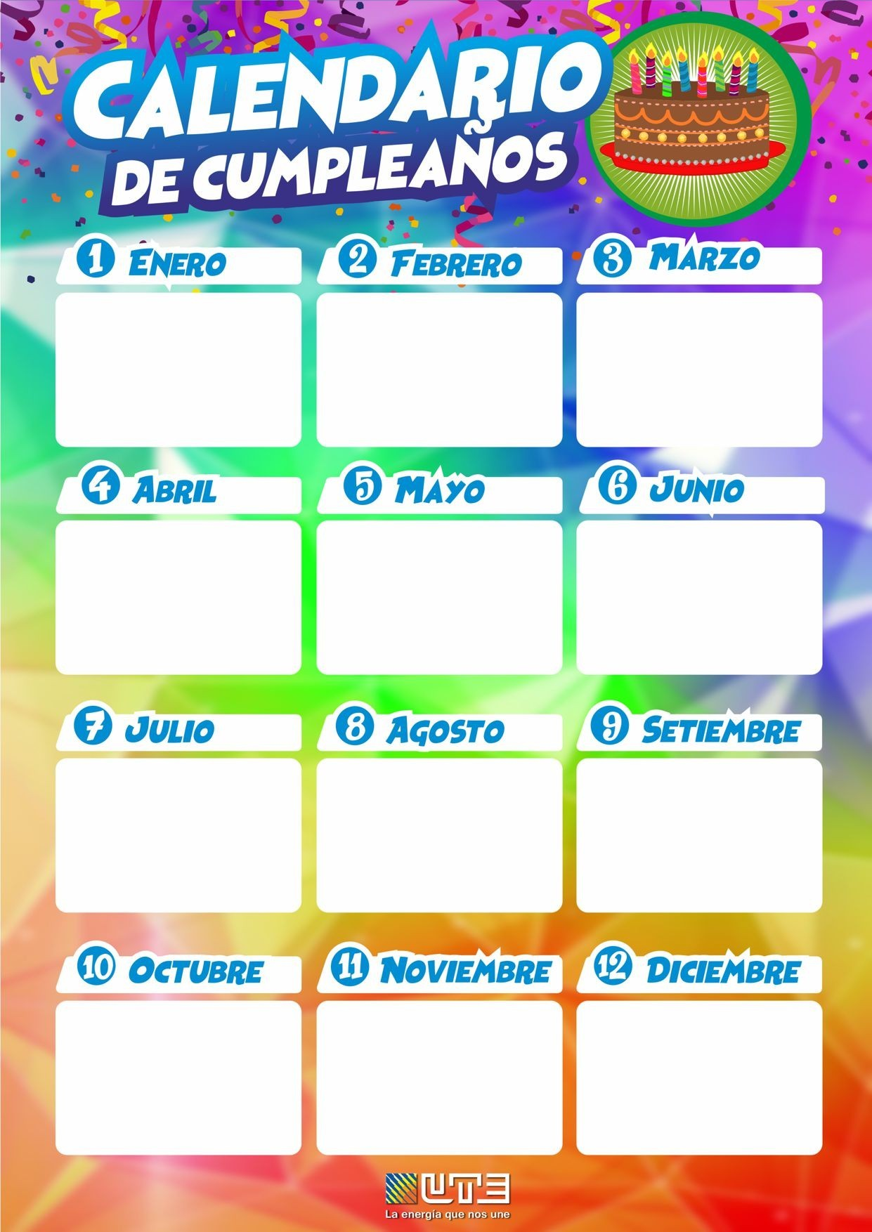 calendario de cumpleanos with diseo de calendario