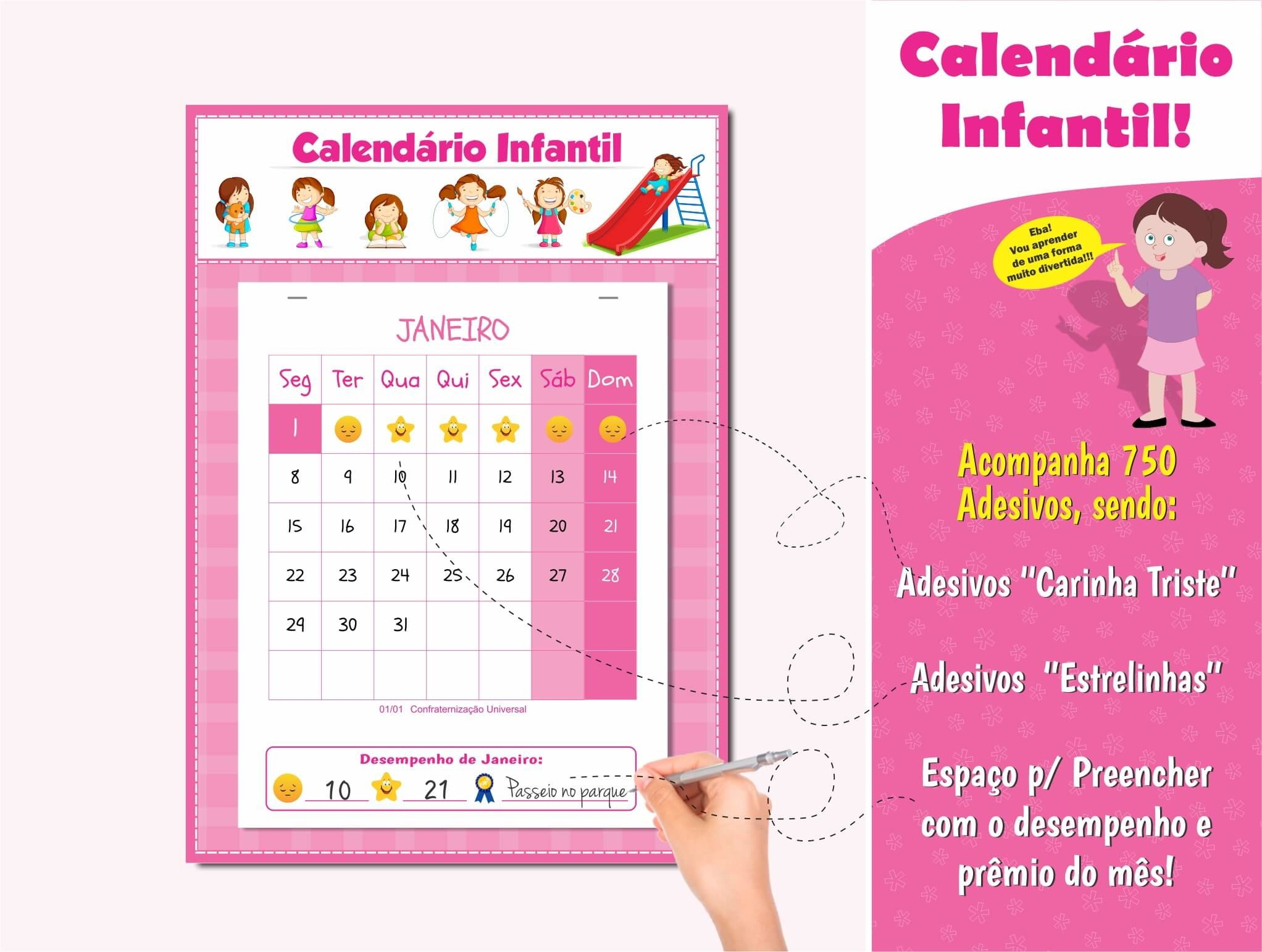 calendario infantil do portamento calendario para educacao infantil