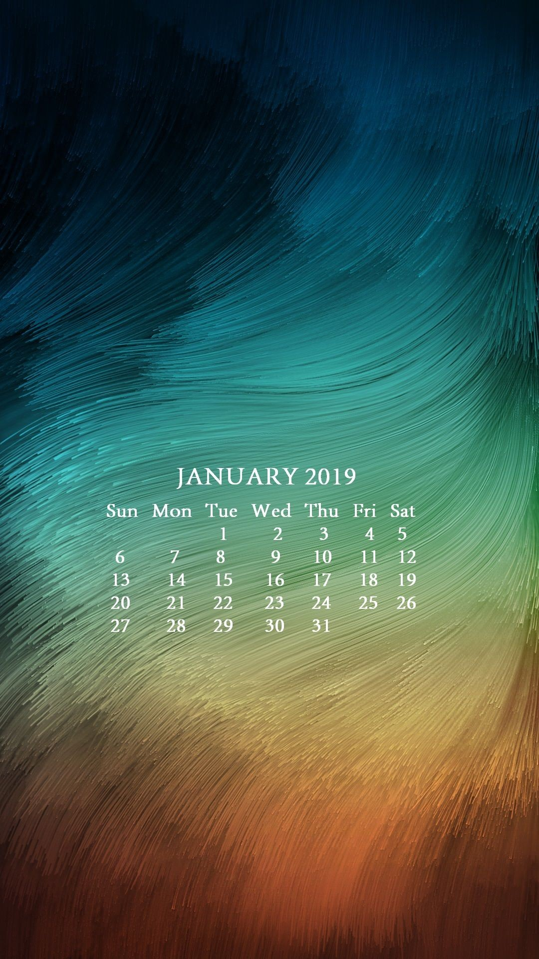 January 2019 Calendar Wallpapers Free Download HD Quality