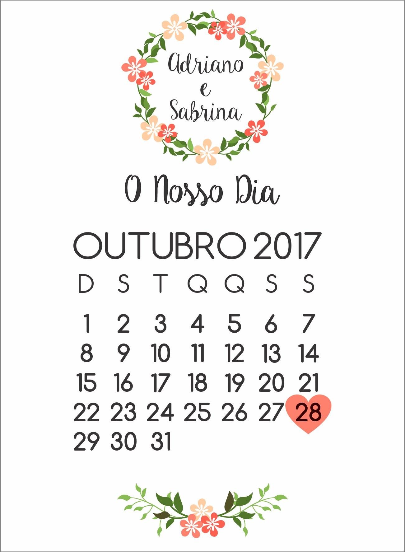 calendário mªs casamento save the date no elo7 personalize