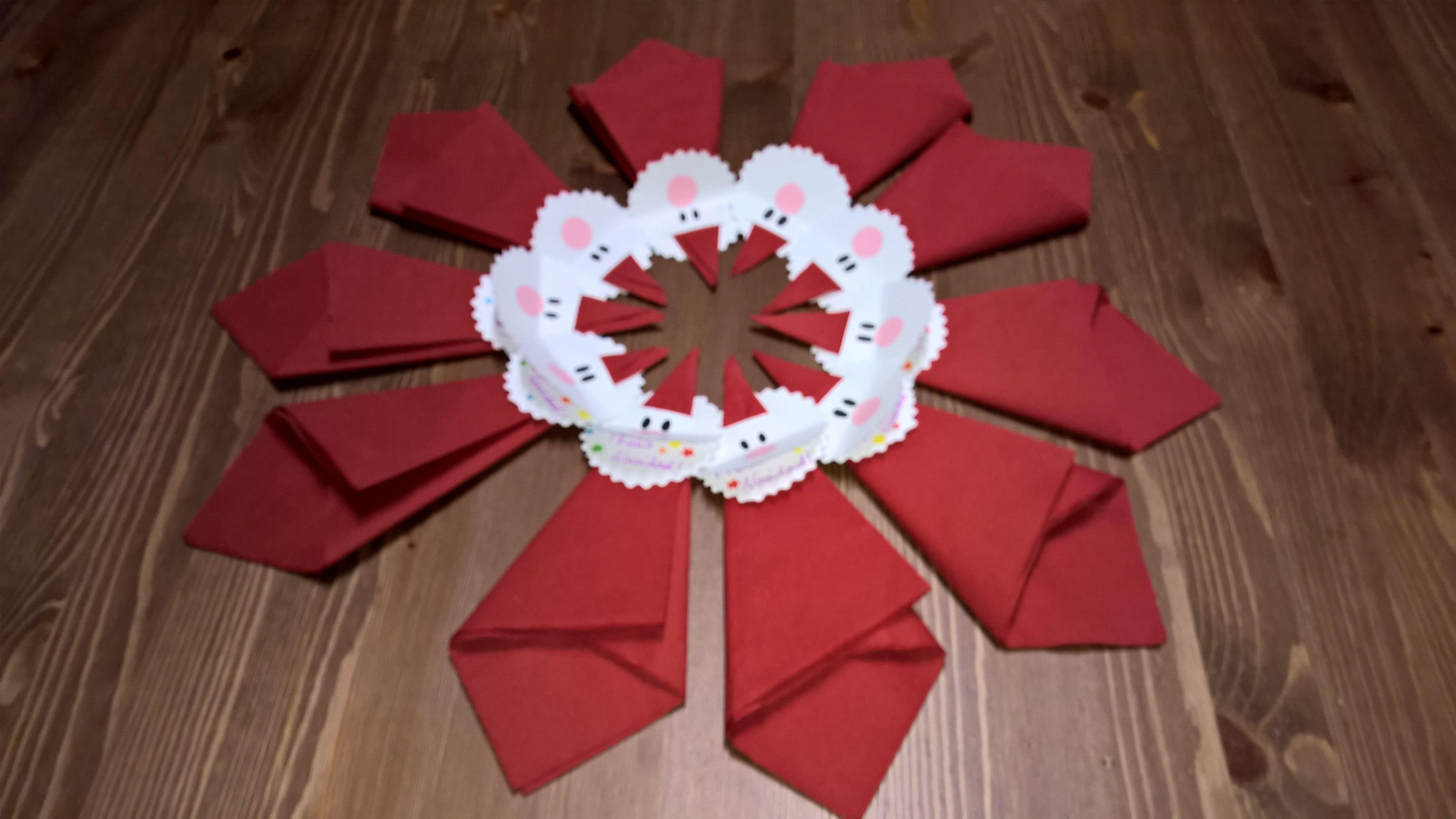 Servilleteros para adornar la mesa de Navidad