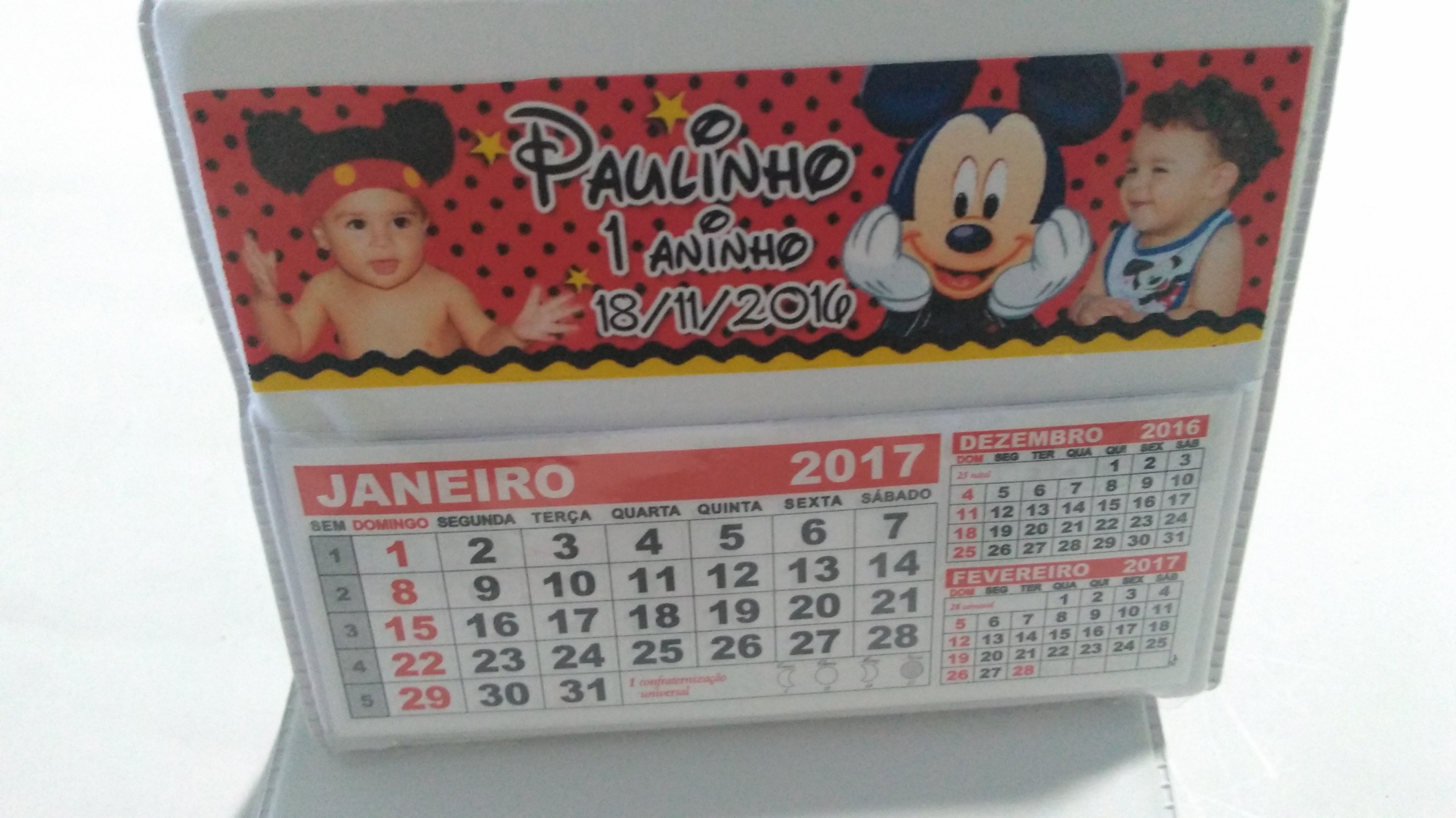 calendario de mesa mickey rotulos mickey