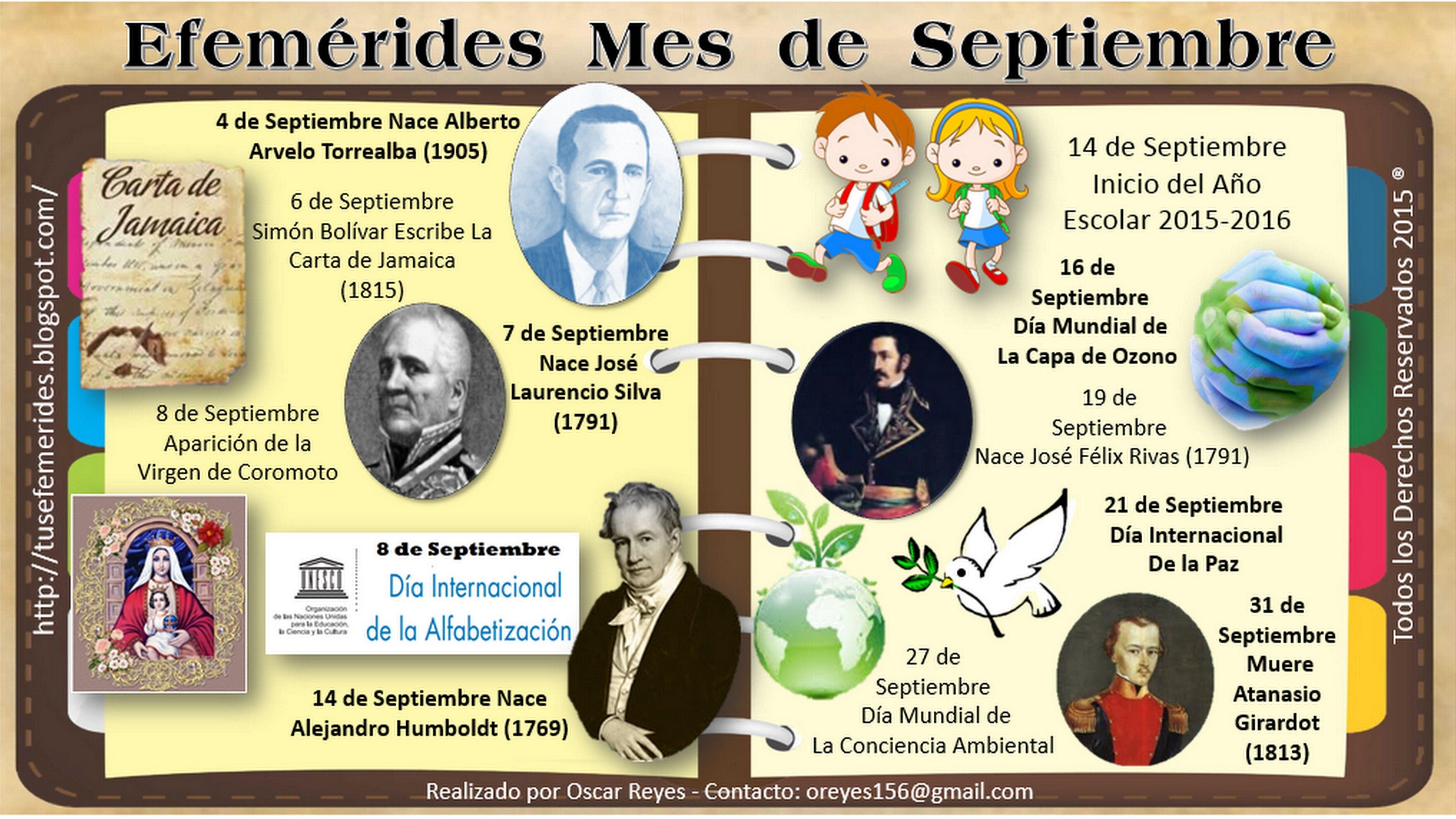 Efemérides Septiembre Efemérides Septiembre … o resultado de calendario 2019