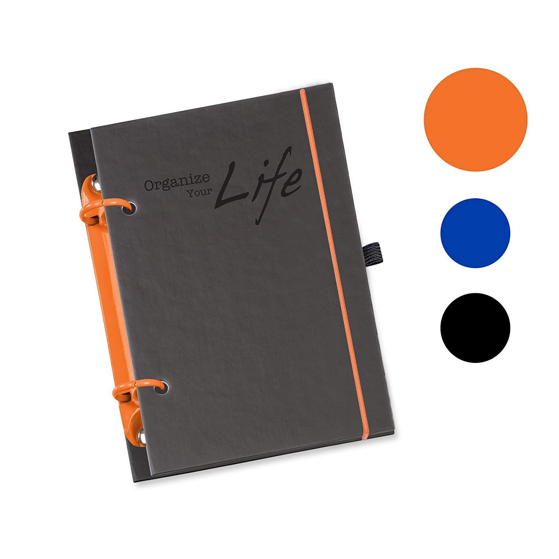 flexiNotes Agenda organizer Schaar Design OYL in formato a A6 ricaricabile calendario tascabile 2018 pianificazione di 1 mese su 2 pagine