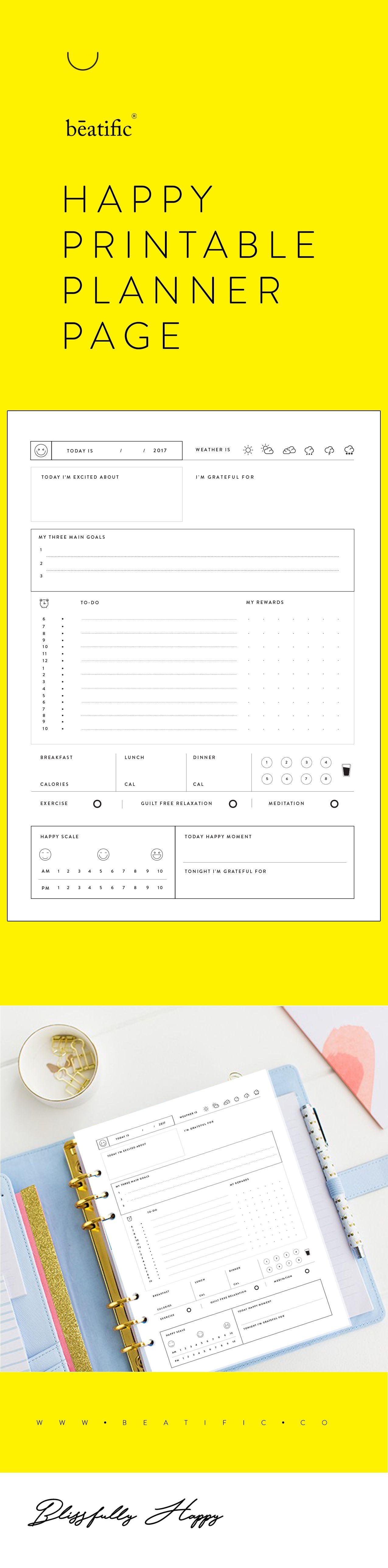 Calendario Semanal Para Imprimir Gratis Más Reciente Blissfully Happy Planner & Journal Printable Undated Of Calendario Semanal Para Imprimir Gratis Más Actual Pin De Karen De Villao En Bordes Para Caratula