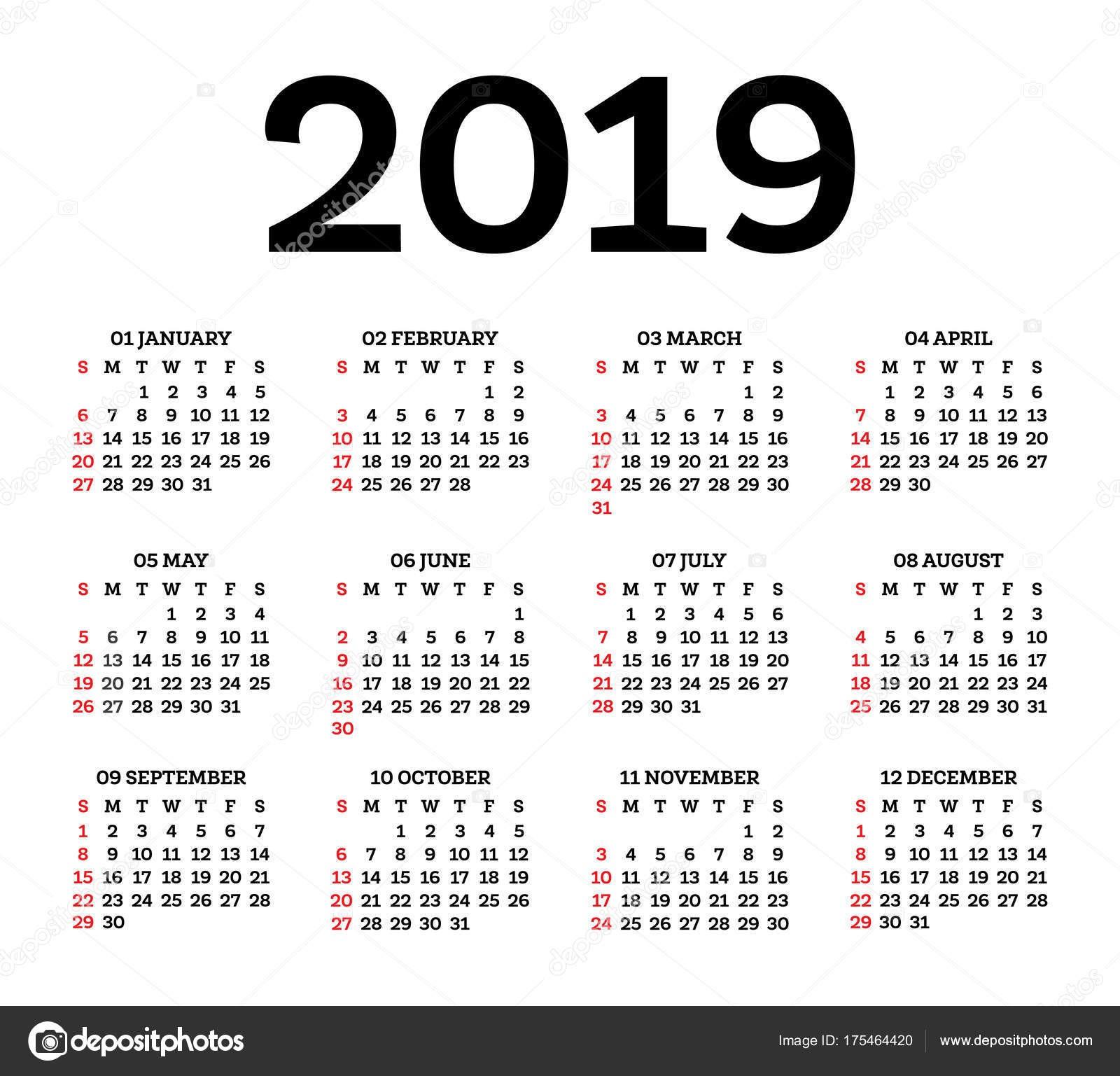 Calendario Sep Agosto 2019 Más Recientes Kalendář 2019 Izolovan½ch Na Blém Pozad T½den Začná Od Slunce