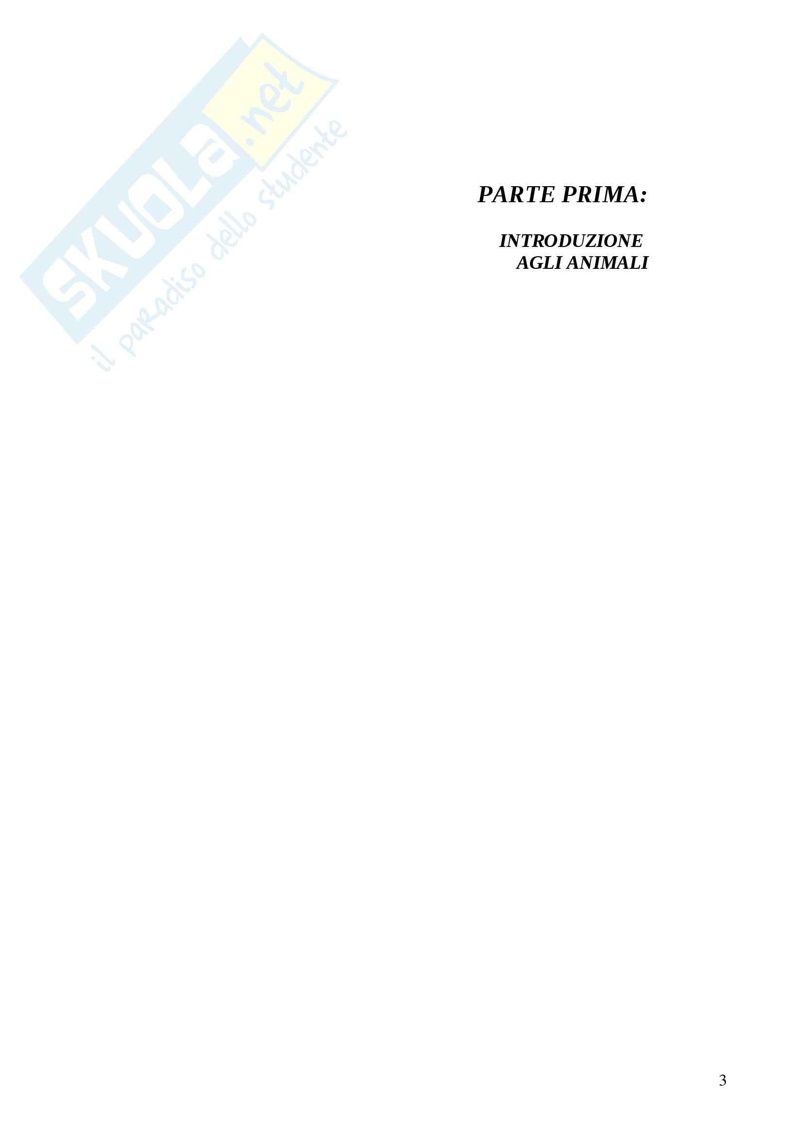 Riassunto esame Zoologia prof Bologna libro consigliato Trattato Italiano di Zoologia 1 e