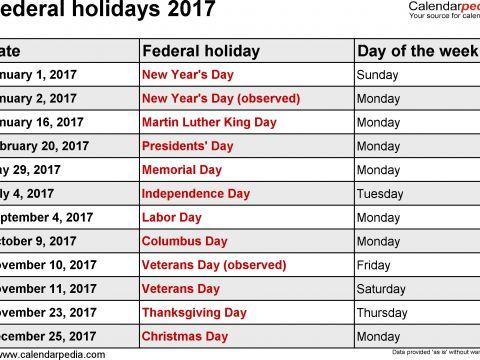 Calendarios Para Imprimir Curso Escolar Más Arriba-a-fecha Public Holidays 2017 Usa Time