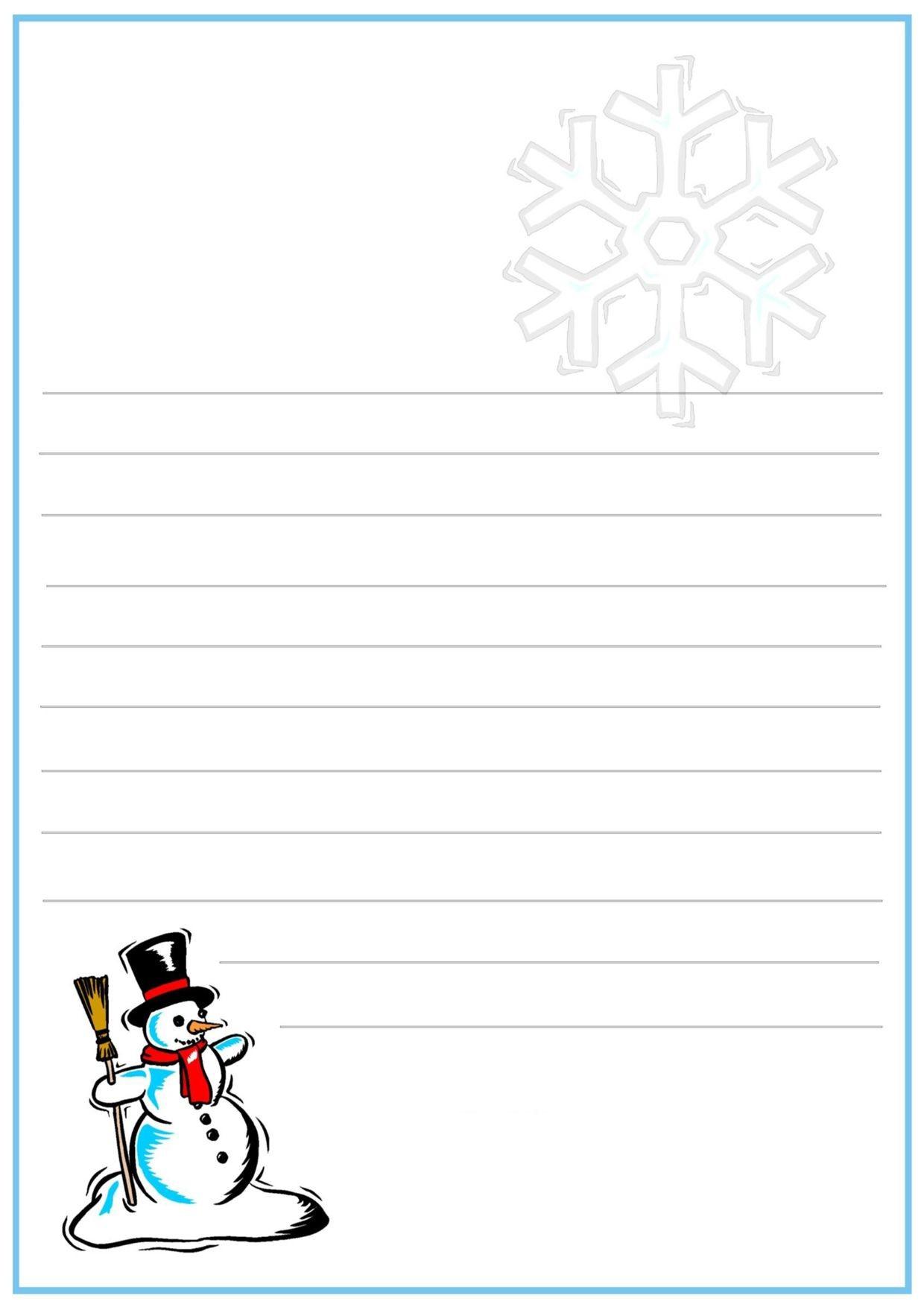 Lettera a Babbo Natale versione 12 da stampare gratis