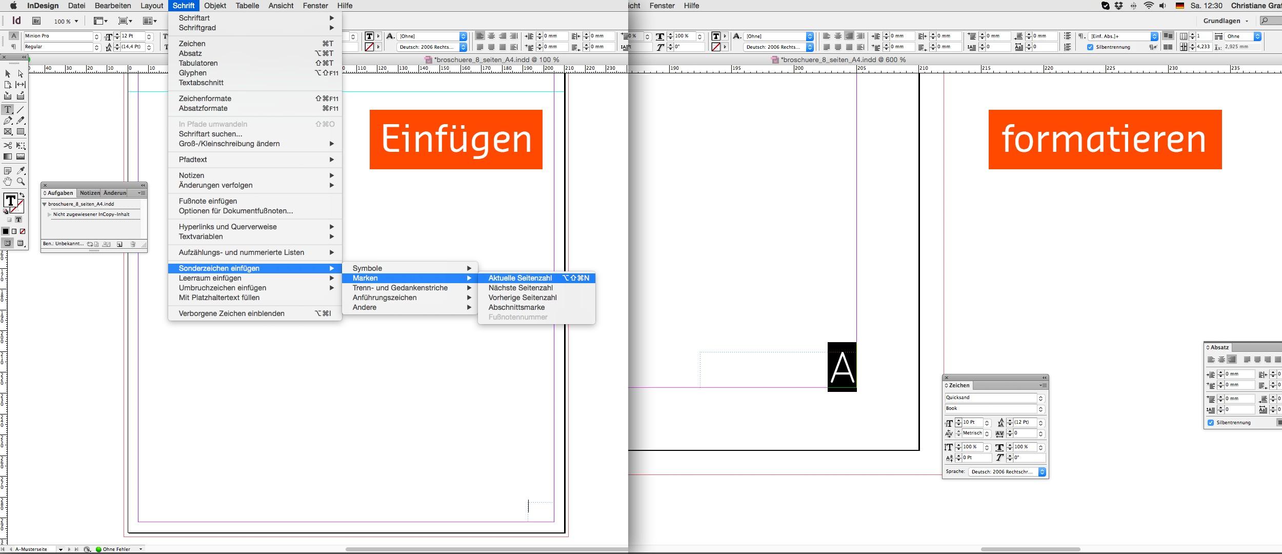 Inhalt einer Broschüre entwerfen mit der InDesign Software 04b