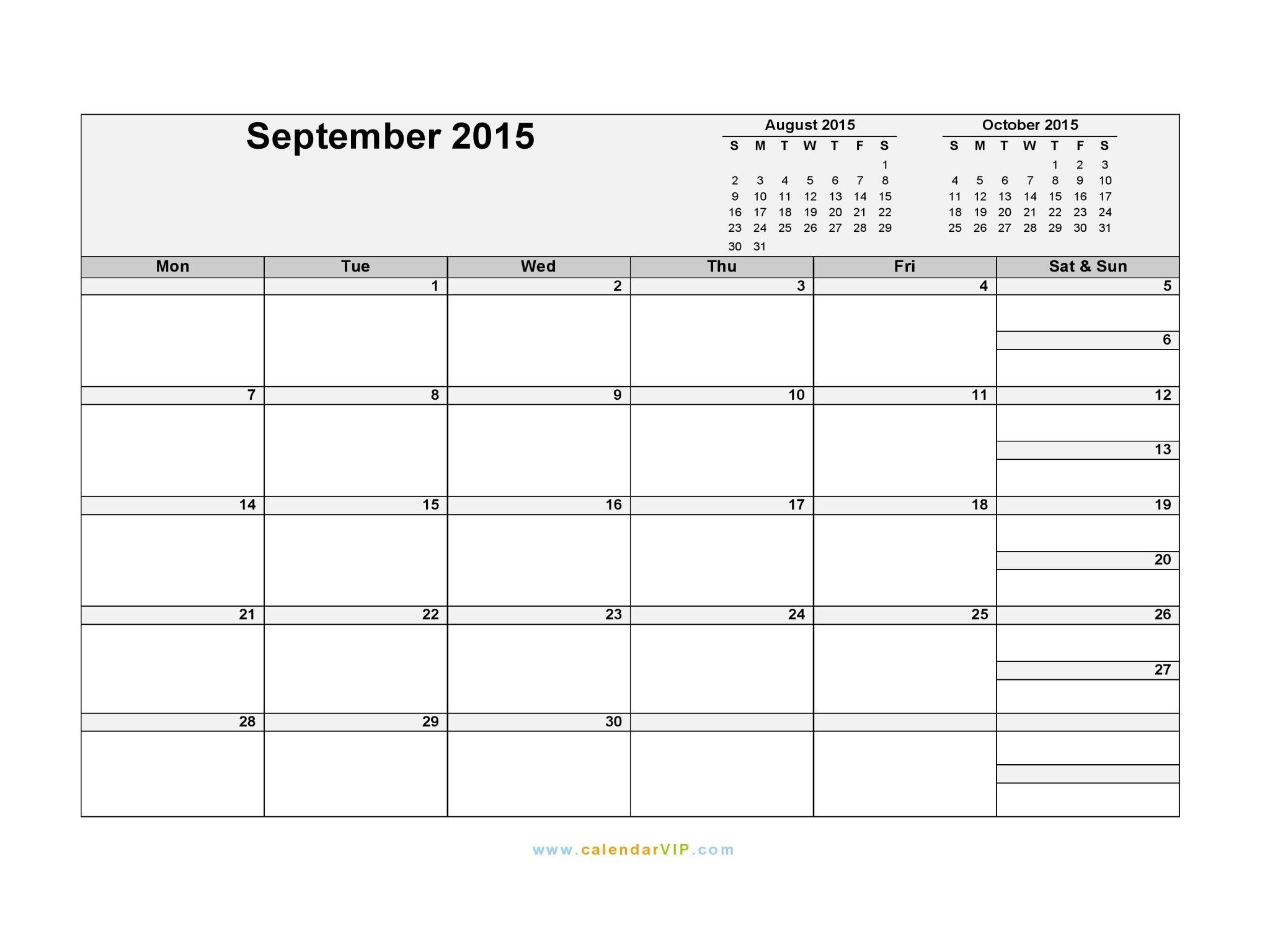 Mahalaxmi Calendar 2019 September