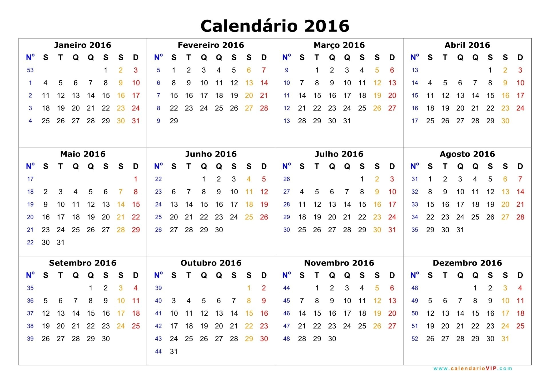 Calendarios 2016 02