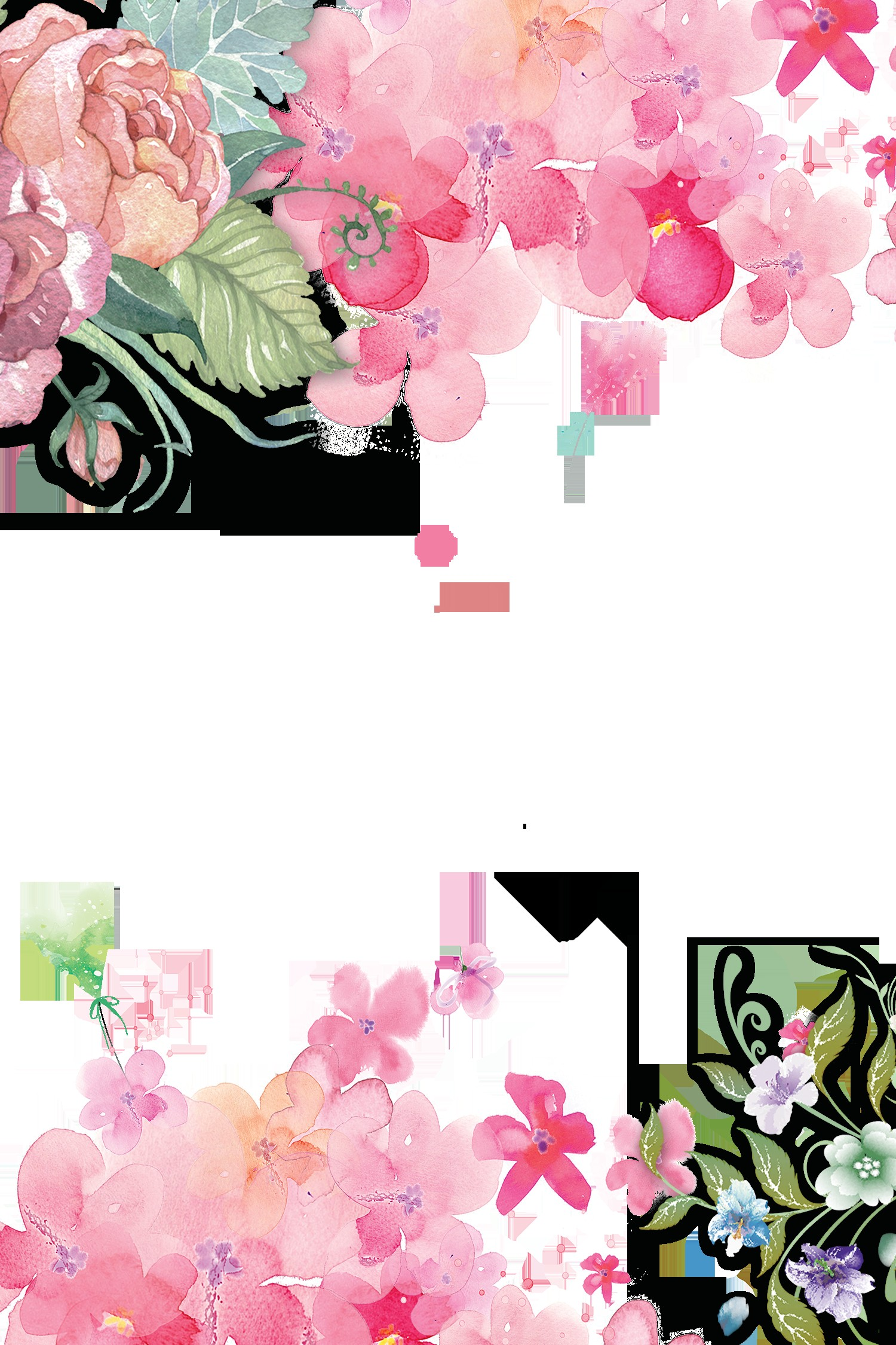 Watercolor Flowers sombreado