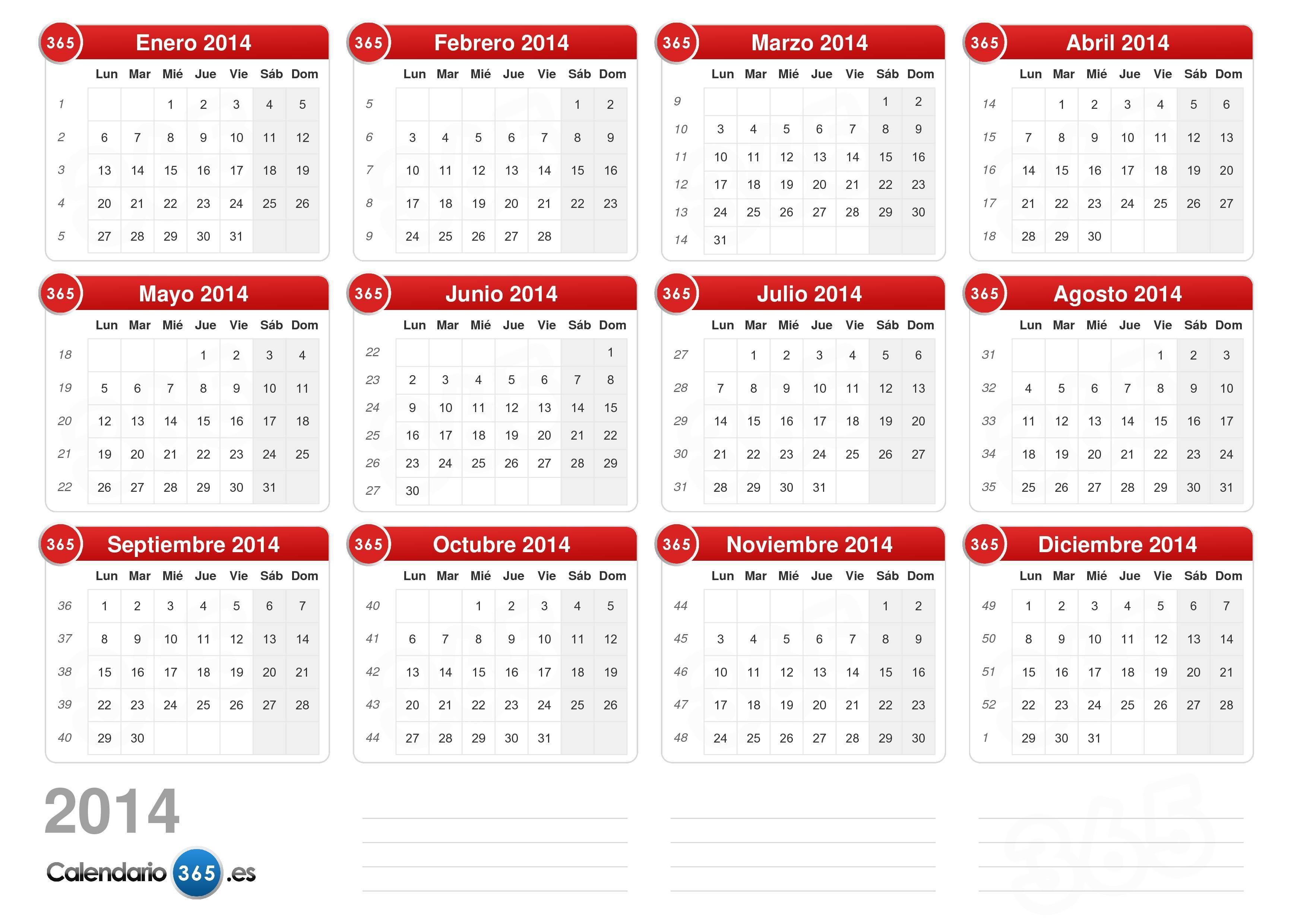 Calendario 2014 v2