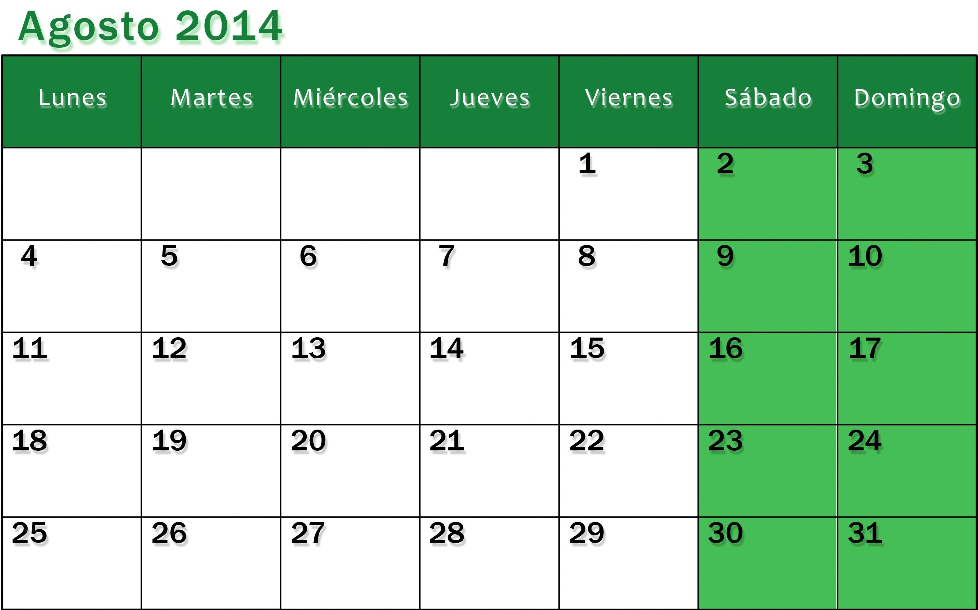 Lo que viene primicias del ¡reforma curricular otras 3196x1995 Calendario agosto 2013 para imprimir