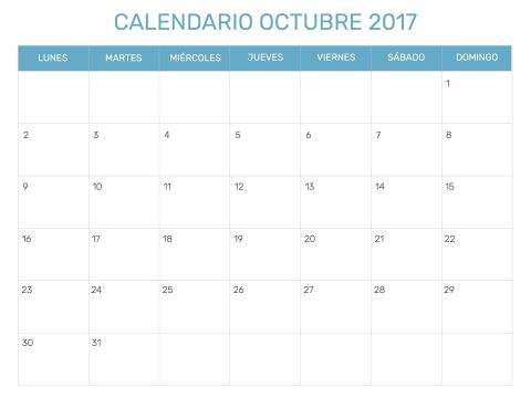 Imprimir Calendario Agosto De 2017 Más Recientes Best Calendario Del Mes De Octubre 2017 Para Imprimir Image Collection