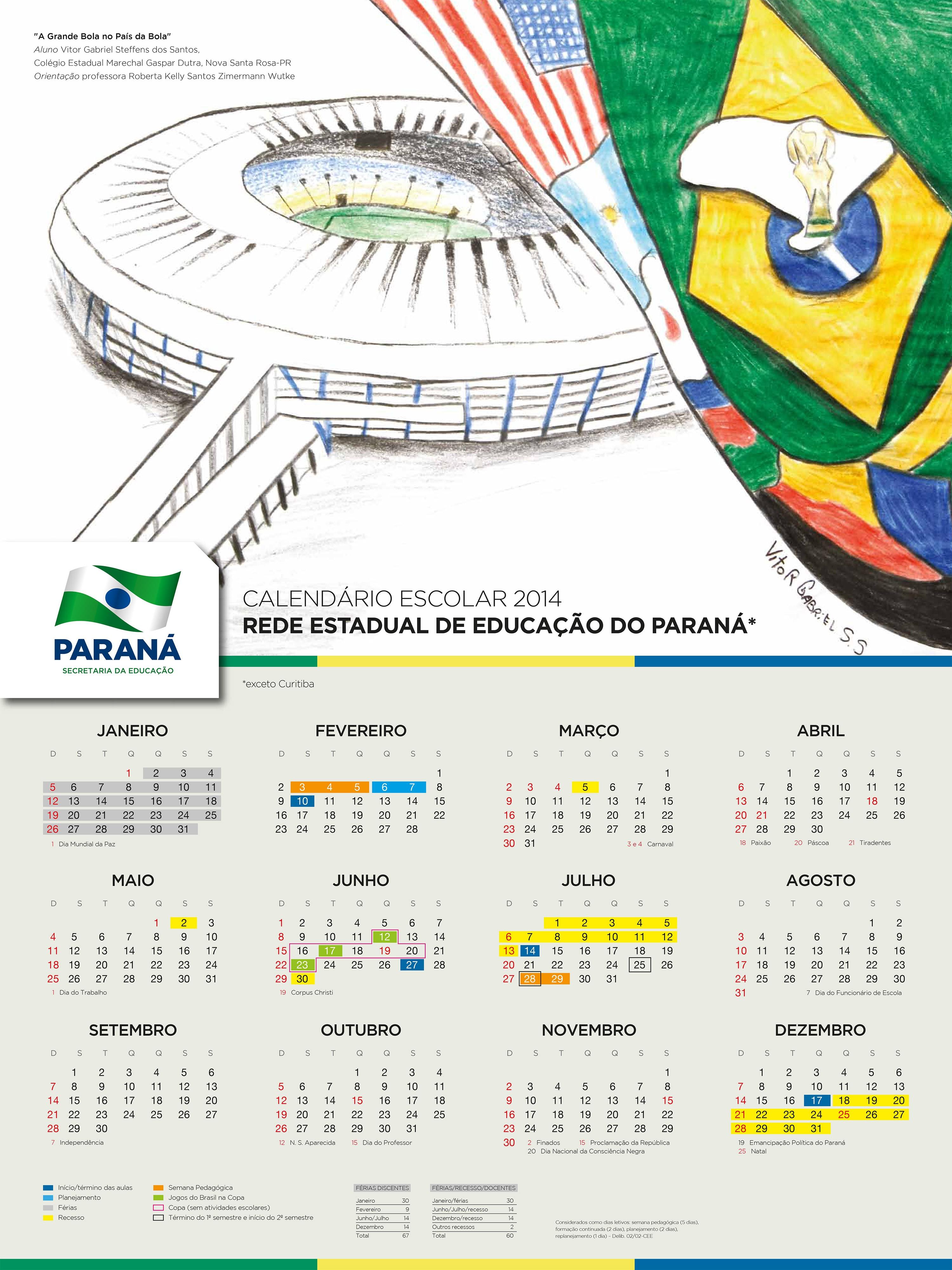 Calendário da Copa 2014 Estadio