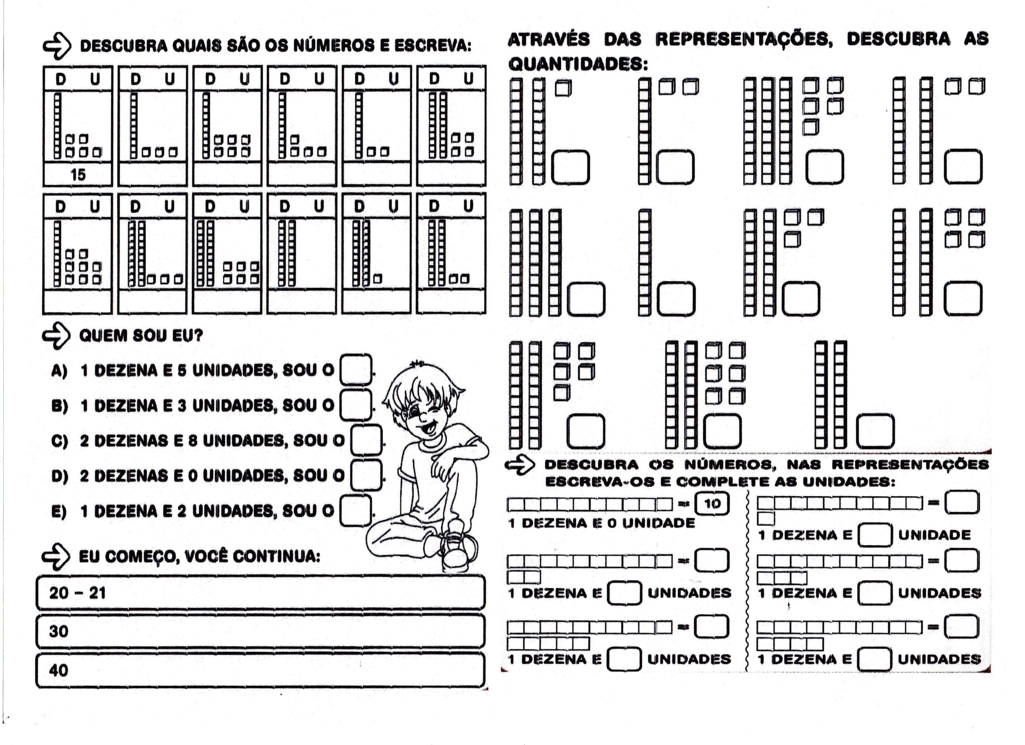 Dezenas e unidades Descobrir nºmeros e representa§µes de quantidades