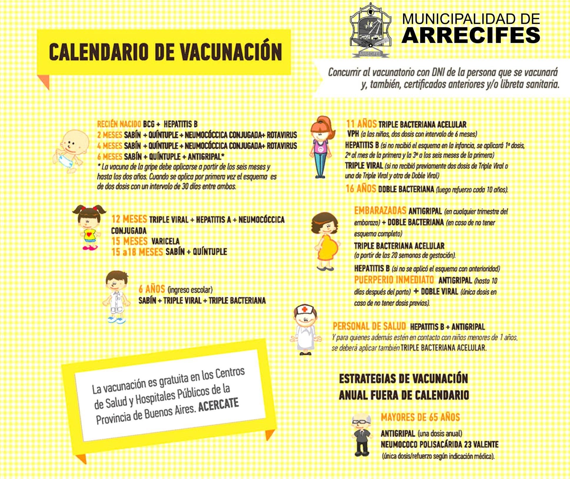 Calendario De Vacunaci³n Y Presentaci³n De Los Certificados
