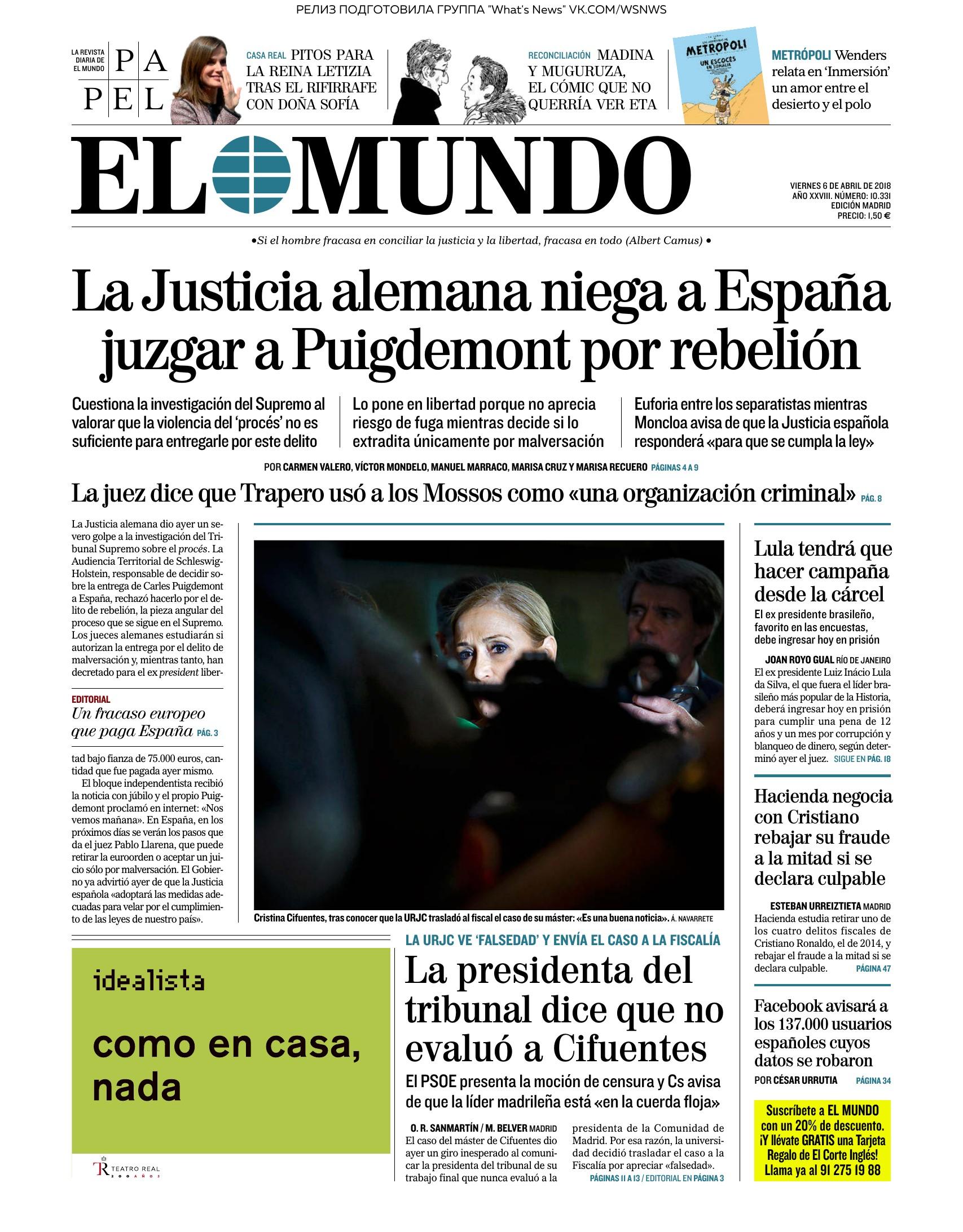 El Mundo 06 04 2018