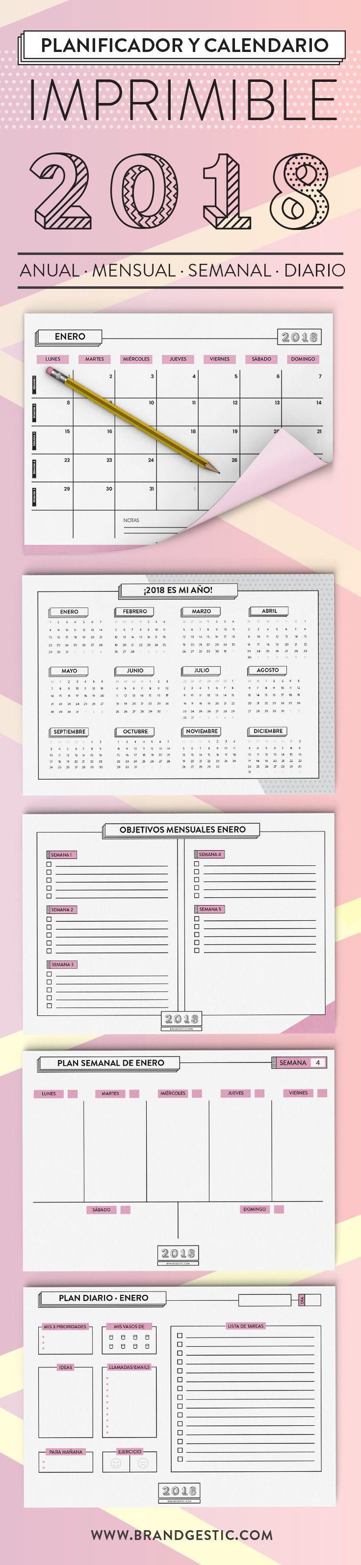 Calendario Planificador Imprimible