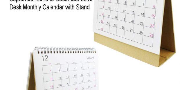 Imprimir Calendarios De Mesa 2019 Más Reciente Escritorio Pad Calendario 2019 Mensual Con soporte Septiembre 2018