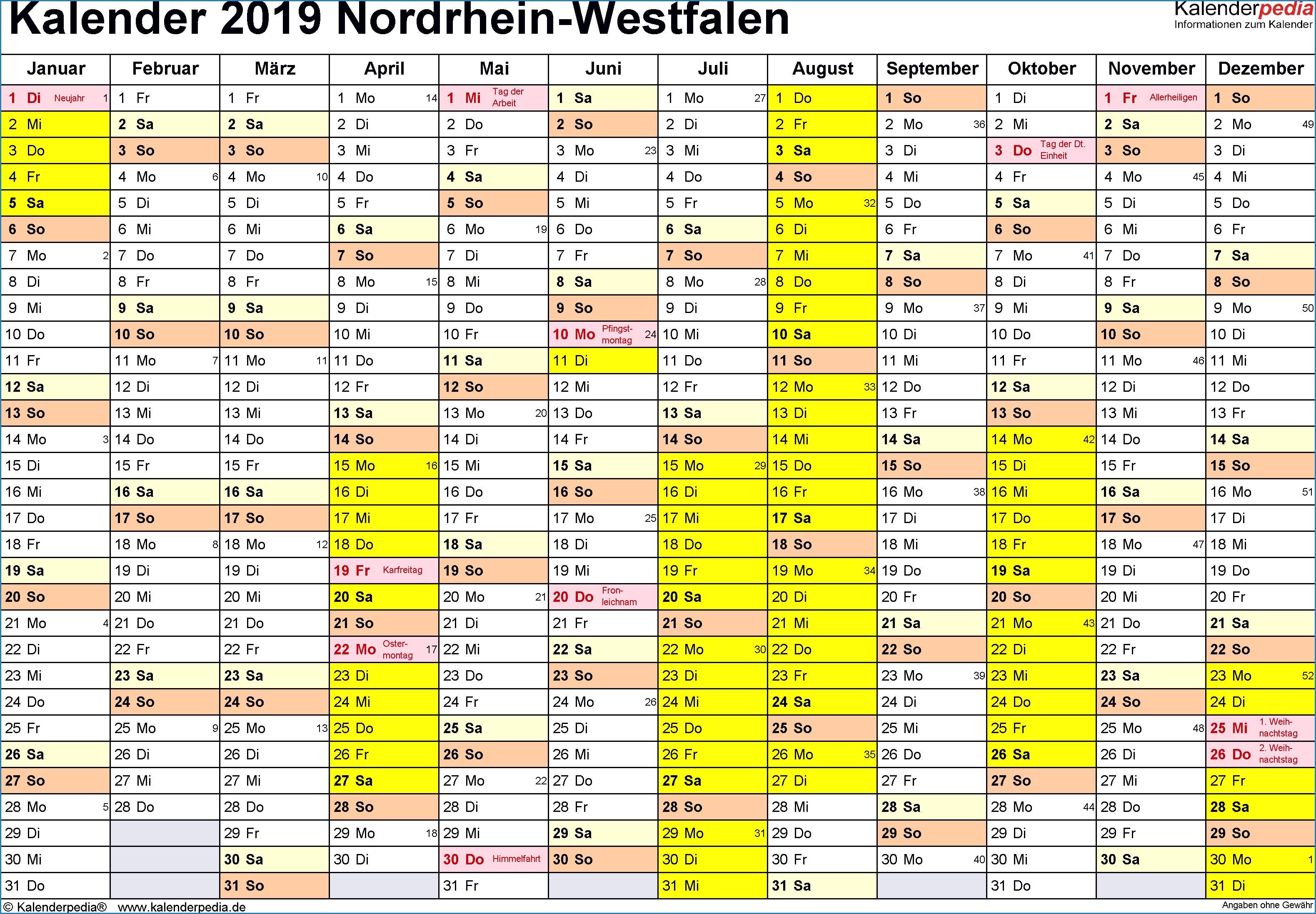 Kalender 2019 Excel Vorlage Einzigartig Nrw Simple Nrw With Nrw Nrw With Nrw Fabulous Nrw With