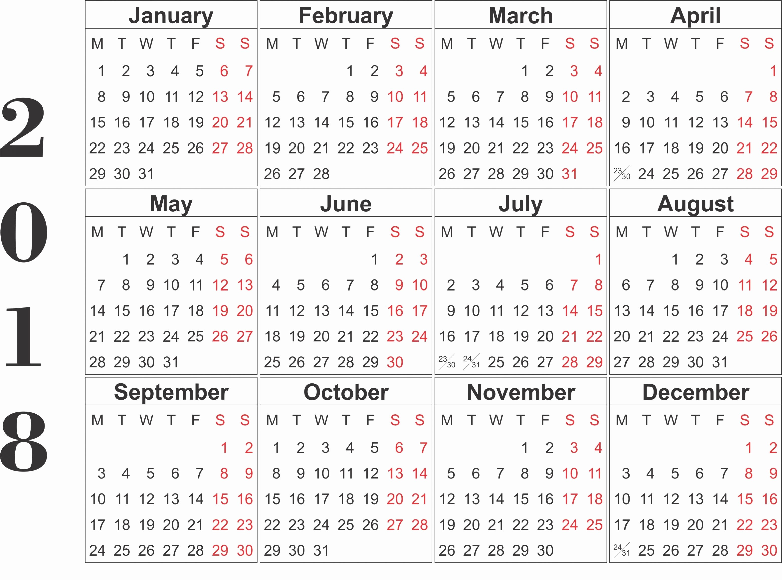2018 Calendar Free Printable 2018 Calendar Template Word Excel