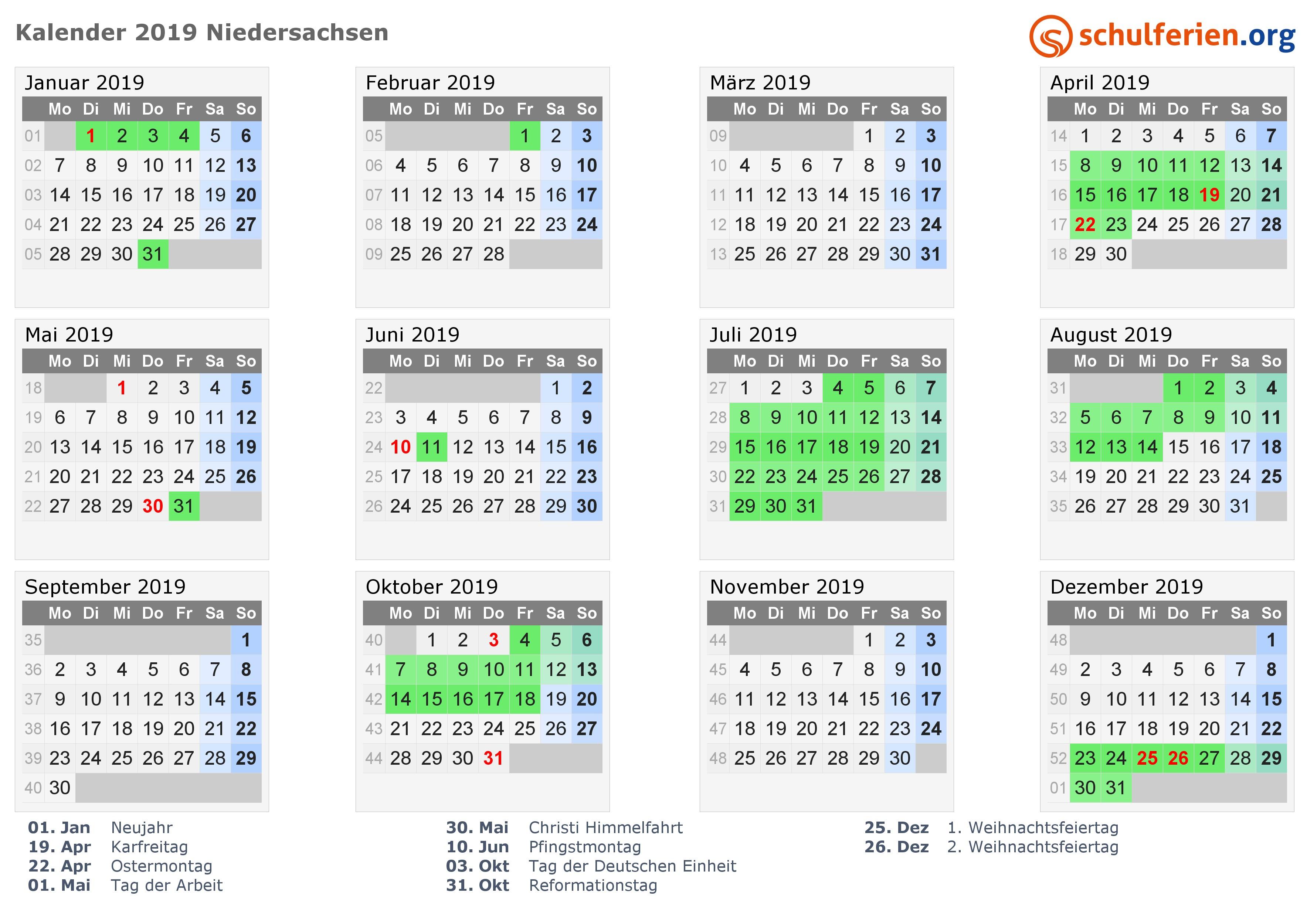 Kalender 2019 Excel Download Kostenlos Más Populares Kalender 2019 Ferien Niedersachsen Feiertage Of Kalender 2019 Excel Download Kostenlos Actual 59 Hervorragend Kalender Selbst Erstellen – Scene3