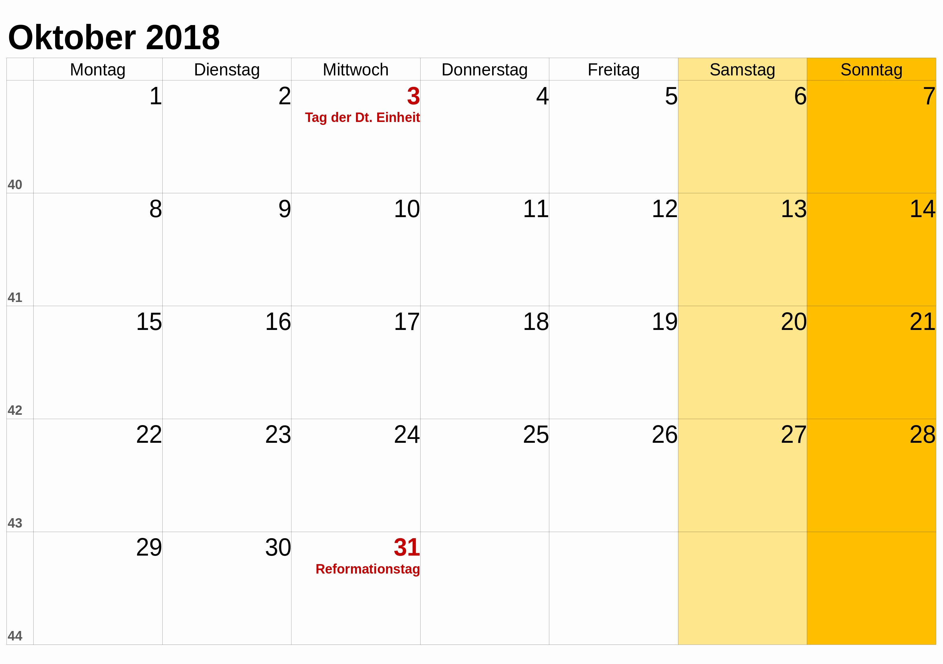 Monatskalender 2017 Zum Ausdrucken Best Kalender Oktober 2018 Zum Ausdrucken [pdf Excel Word]