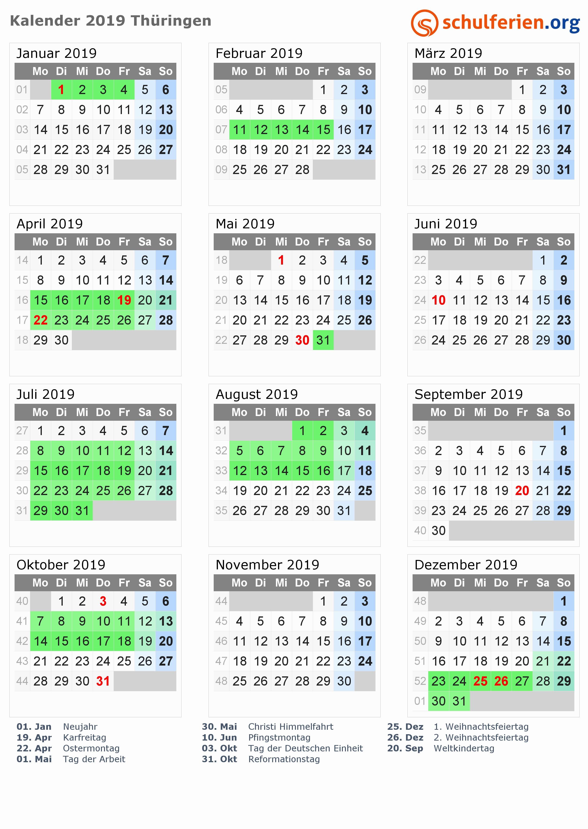 übersicht Jahreskalender 2017 Niedersachsen Produktfotos Kalender 2019 Ferien Thüringen Feiertage