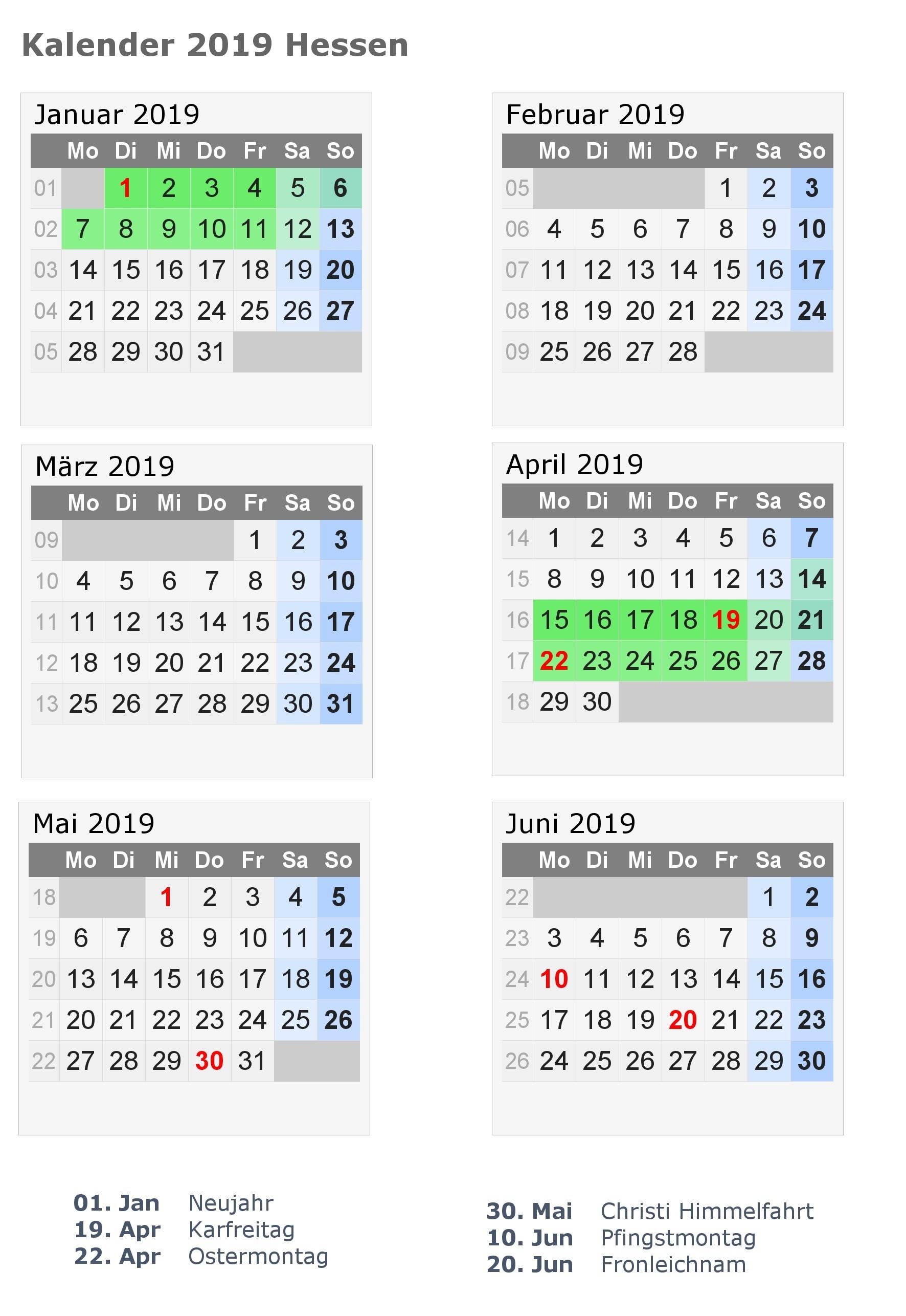 Vorlage Kalender 2019 Bayern Halbjahreskalender 2019 Zum Ausdrucken Pdf Excel Word Calendar line 2019