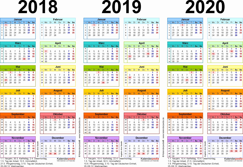 Pdf Kalender 2019 2020 Bayern Dreijahreskalender 2018 2019 2020 Als