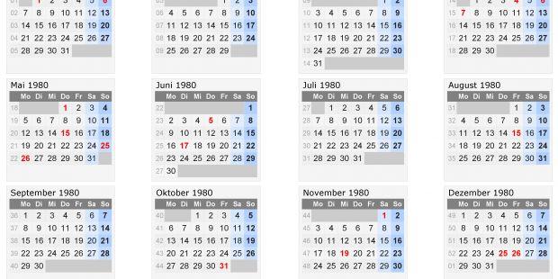 Kalender 2019 Mit Ferien Nrw Pdf Más Arriba-a-fecha Kalender 1980