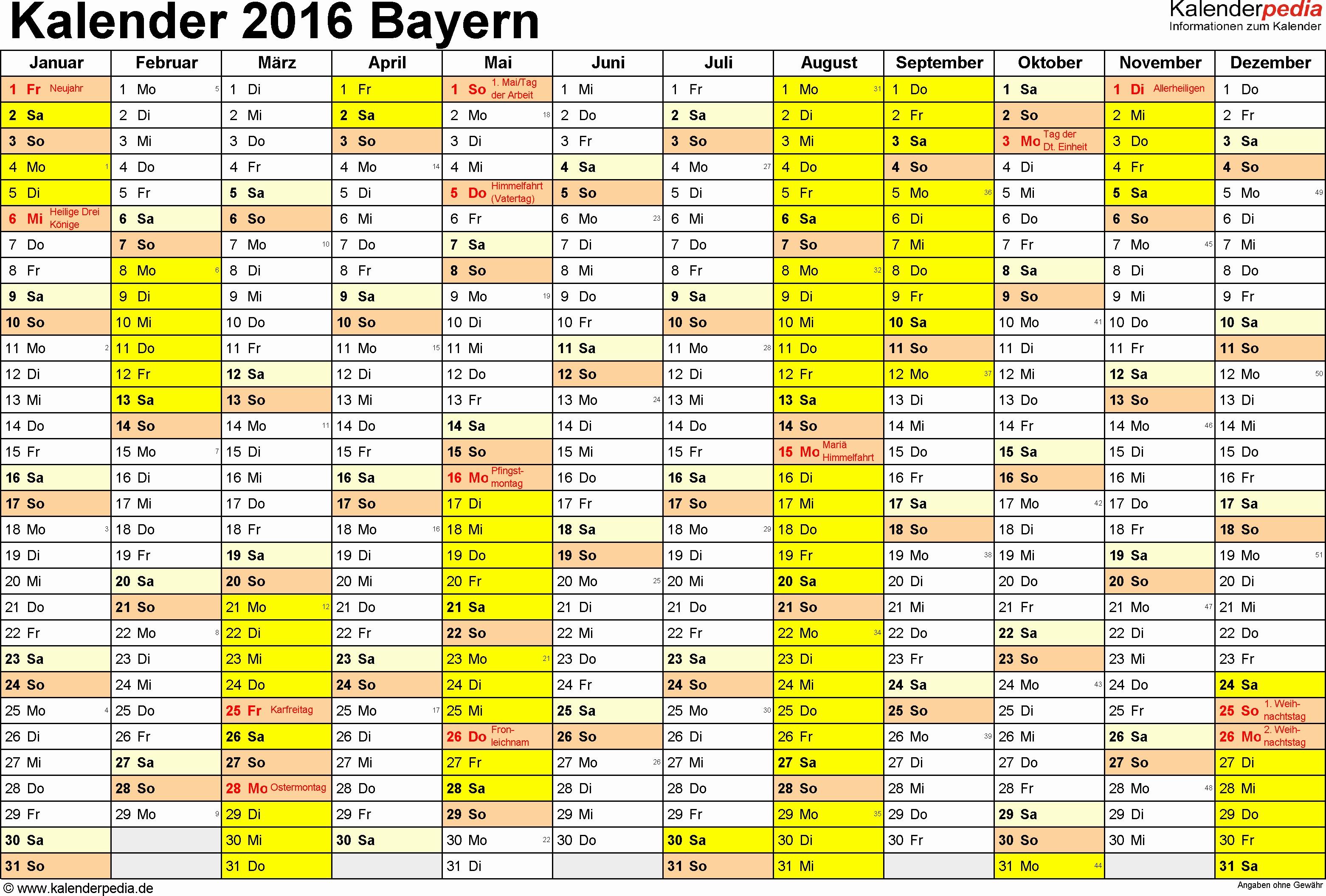 46 Model designs Von Kalender 2016 Mit Feiertagen Niedersachsen