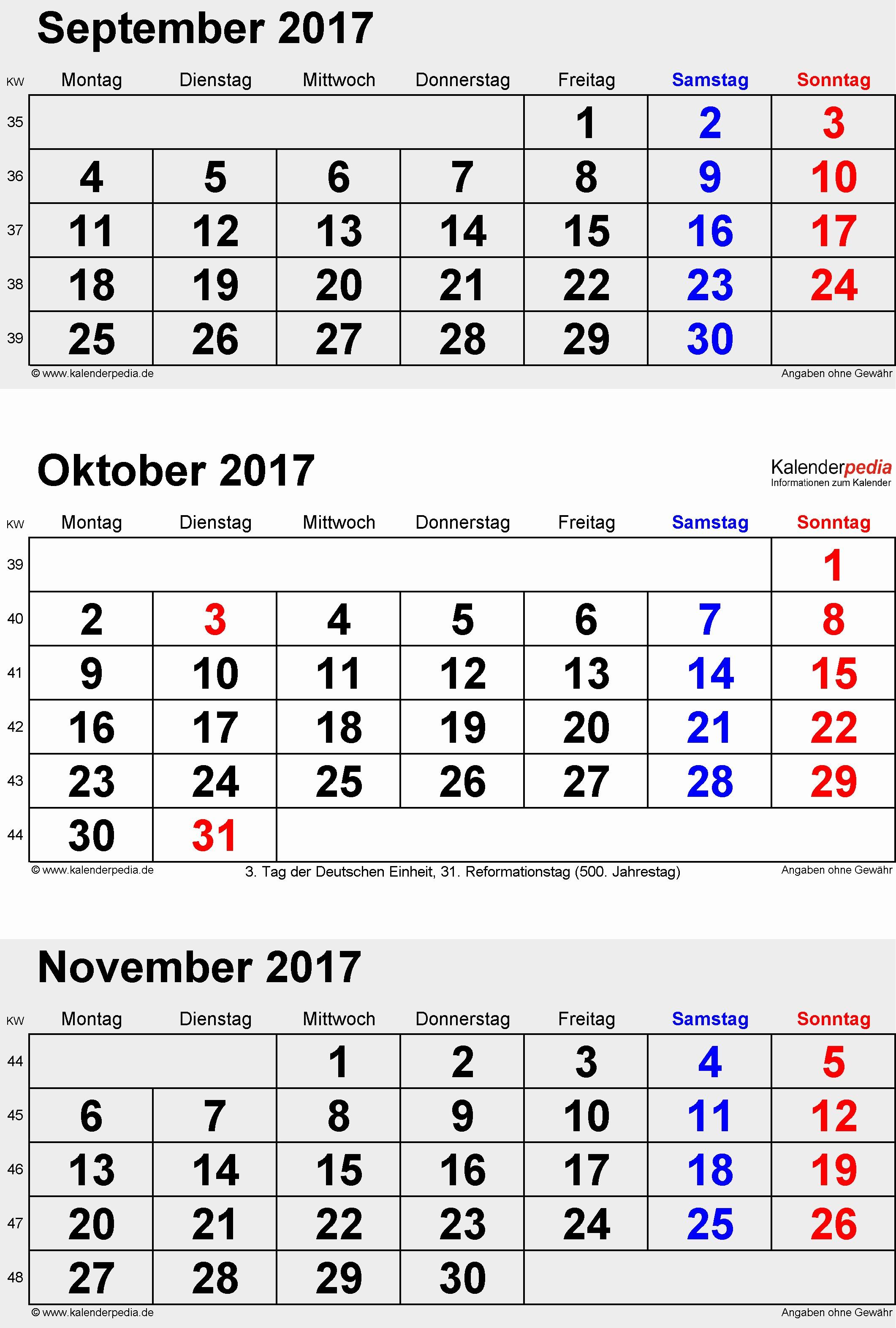 Monatskalender 2017 Zum Ausdrucken Schönheit Kalender Oktober 2017 Als Pdf Vorlagen