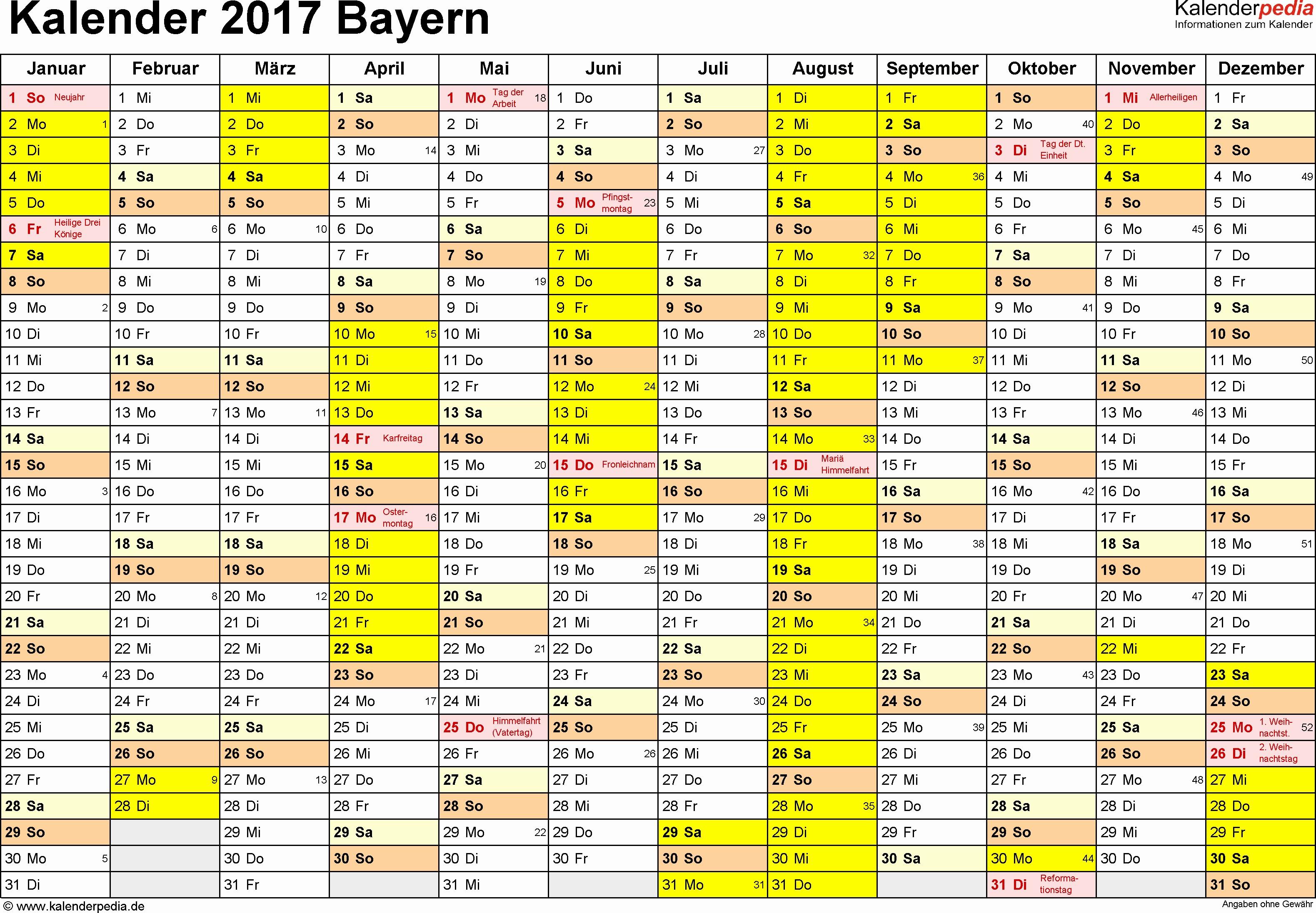 Kalender 2016 Mit Feiertagen Sachsen Neu Kalender 2017 Bayern Ferien Feiertage Word Vorlagen