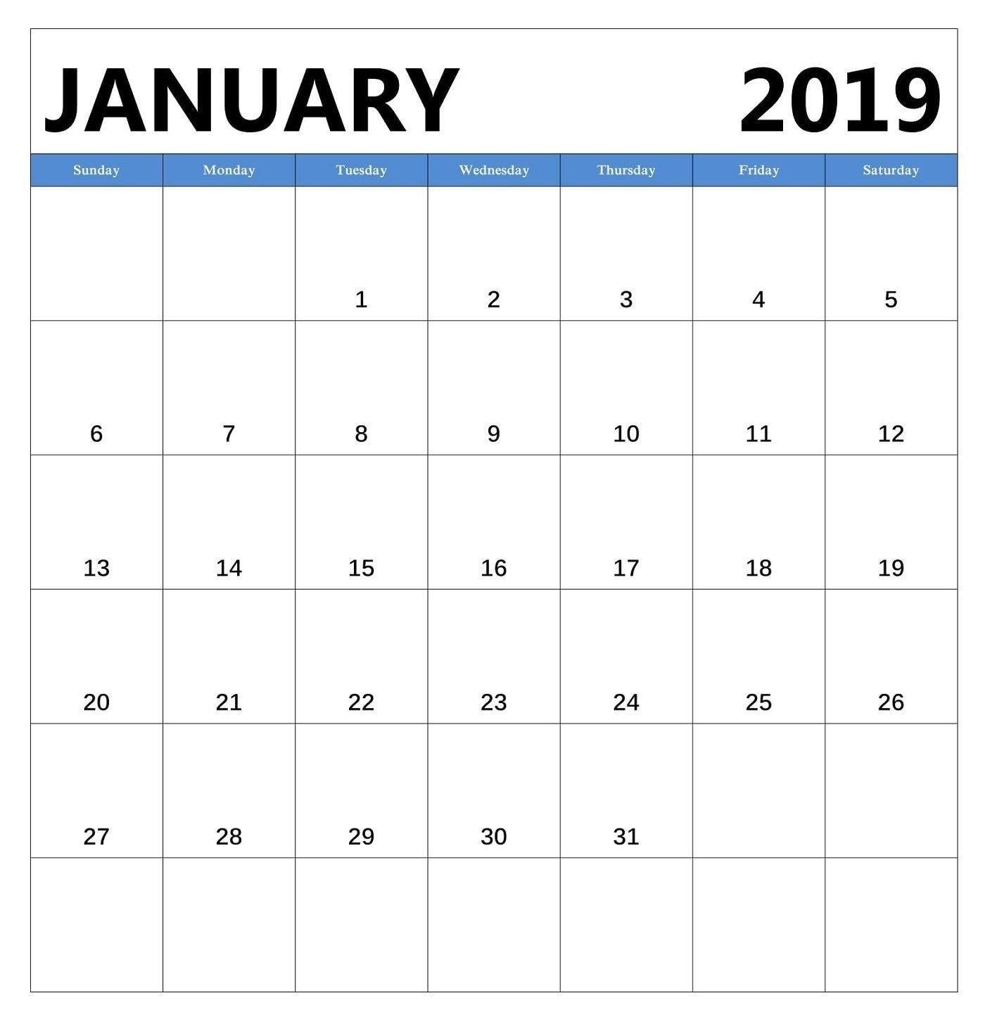 Monthly Calendar 2019 Excel Template Más Reciente January 2019 Monthly Calendar Editable January2019calendar Of Monthly Calendar 2019 Excel Template Más Actual Training Calendar Template Degree Planning Worksheet Unique 2019