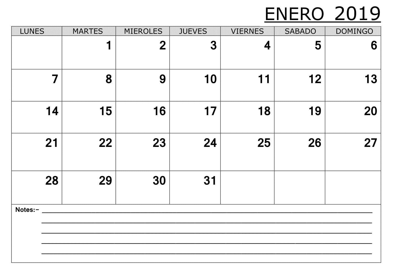 Nuevo Calendario Escolar 2019 Mejores Y Más Novedosos Calendario Enero 2019 Hola 2019