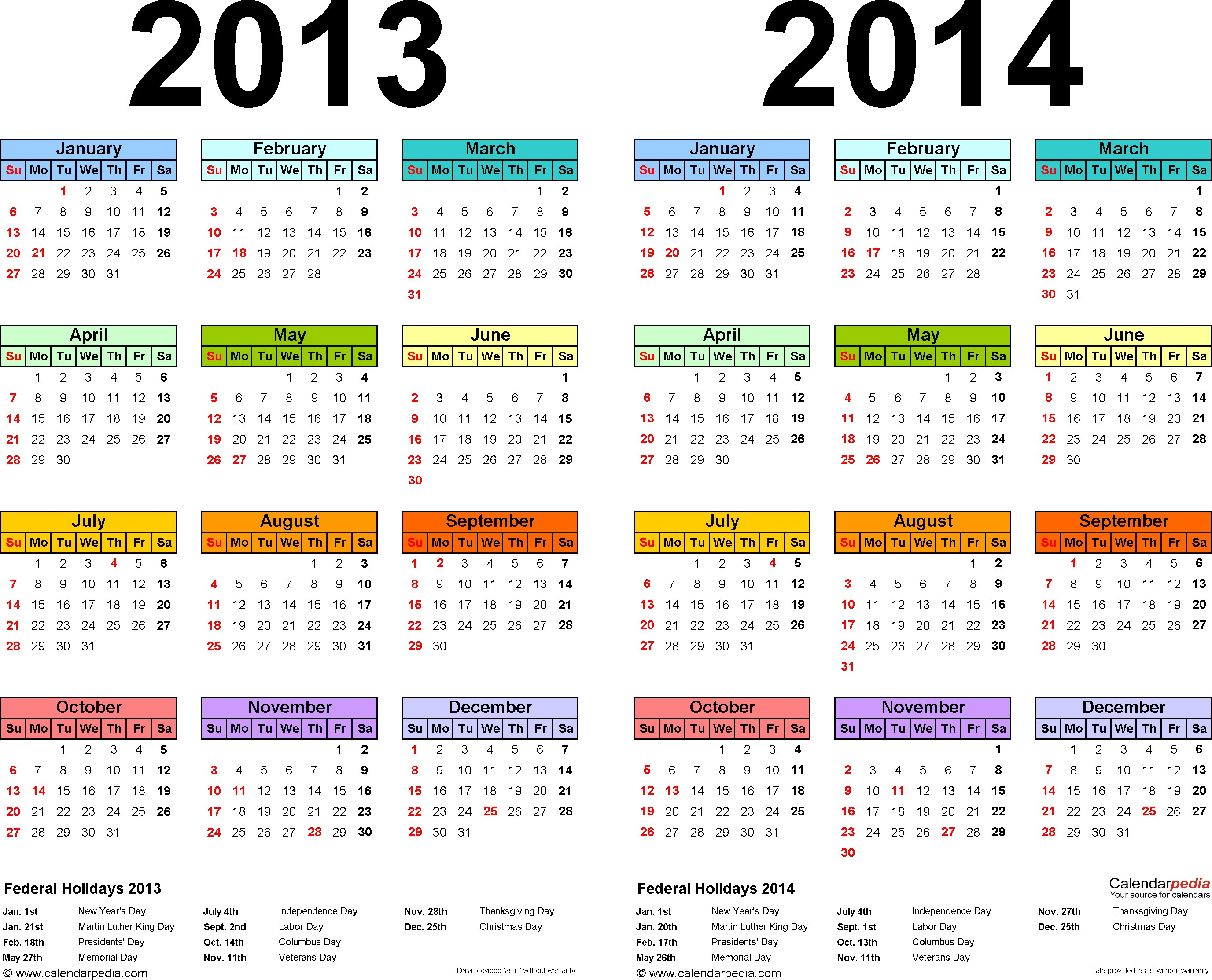 Ssc Year Calendar 2019 With 2013 2014 Free Printable Two Excel Calendars