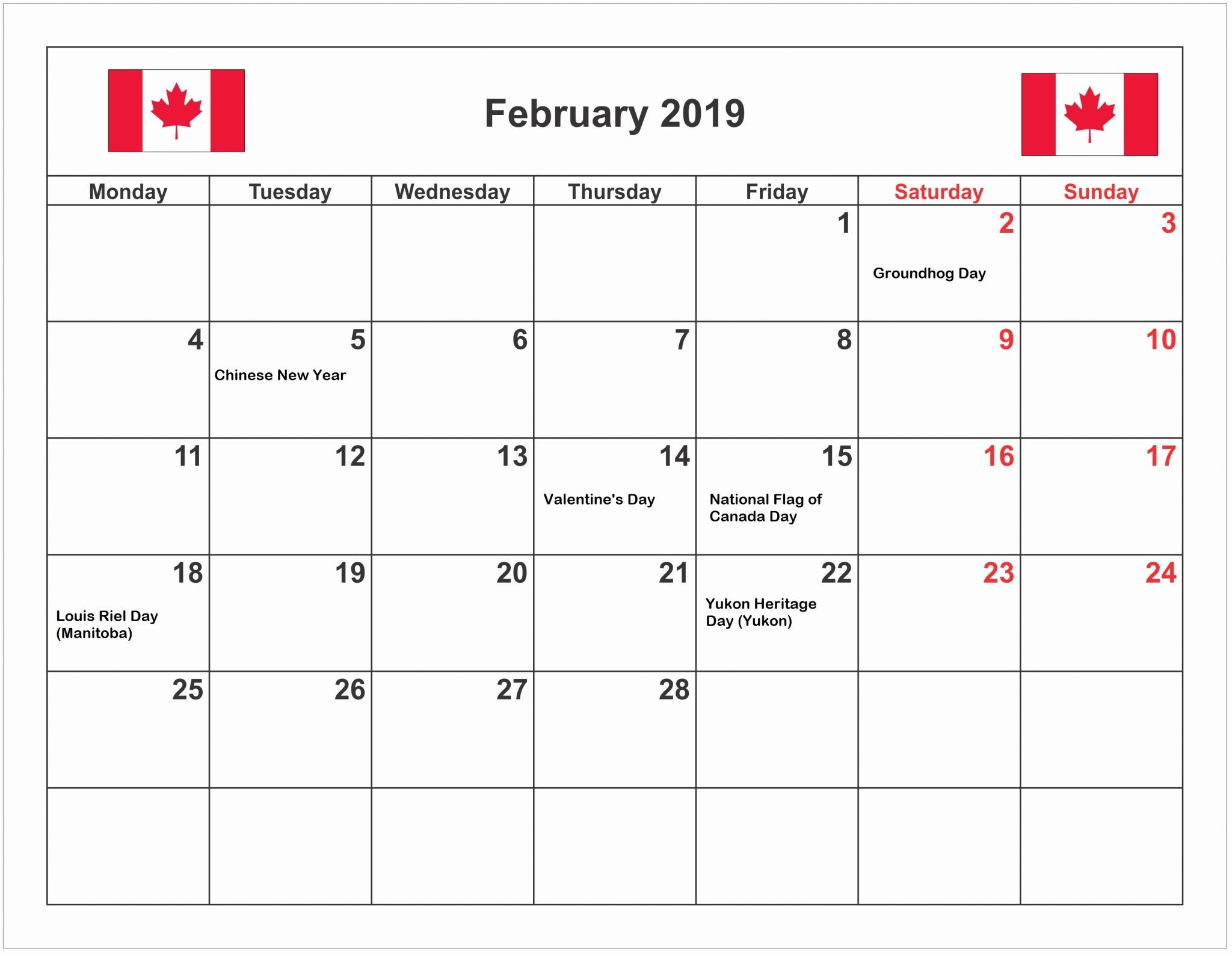 Empty Calendar March 2019 Más Arriba-a-fecha February 2019 Calendar with Holidays Printable Usa Uk Canada Nz Sa Of Empty Calendar March 2019 Más Recientemente Liberado 10 Stylish Free Printable Calendars for 2019