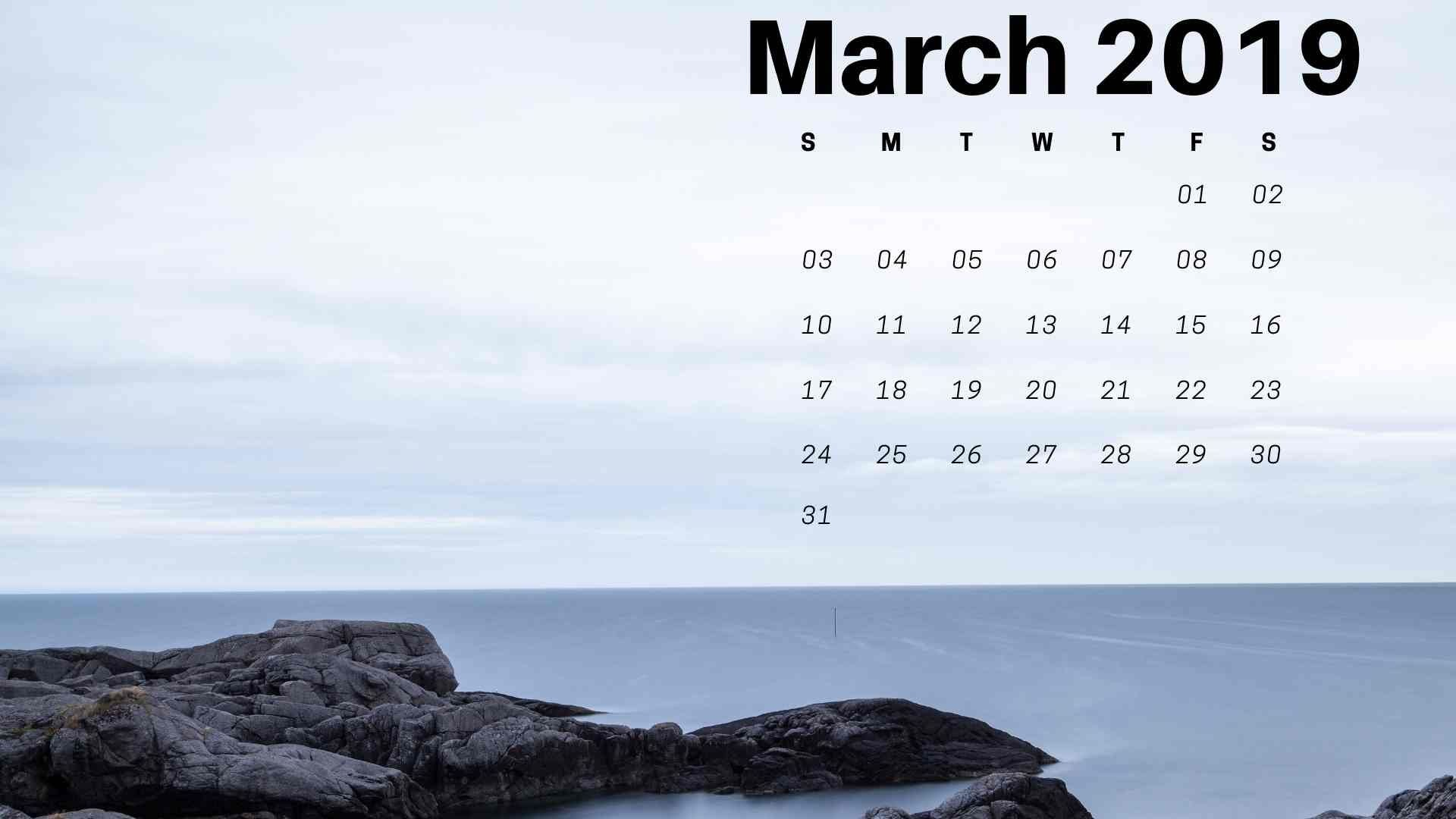 Empty Calendar March 2019 Más Recientemente Liberado March 2019 Calendar Wallpaper Desktop March Calendar Calenda2019 Of Empty Calendar March 2019 Más Recientemente Liberado 10 Stylish Free Printable Calendars for 2019