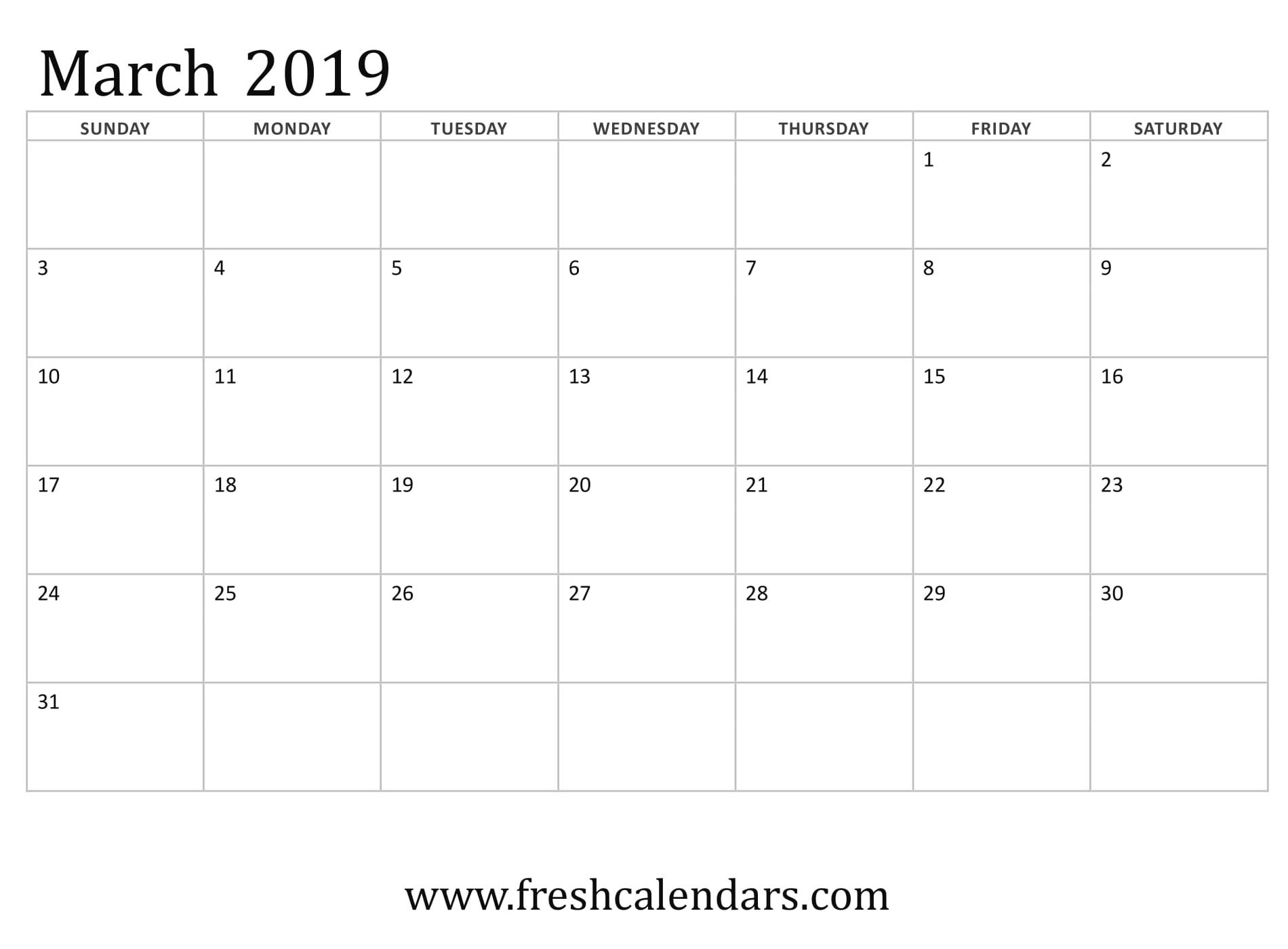 March Calendar 2019 Actual March 2019 Printable Calendars Fresh Calendars Of March Calendar 2019 Más Populares February March Calendar 2019 2018 Printable Calendar Store