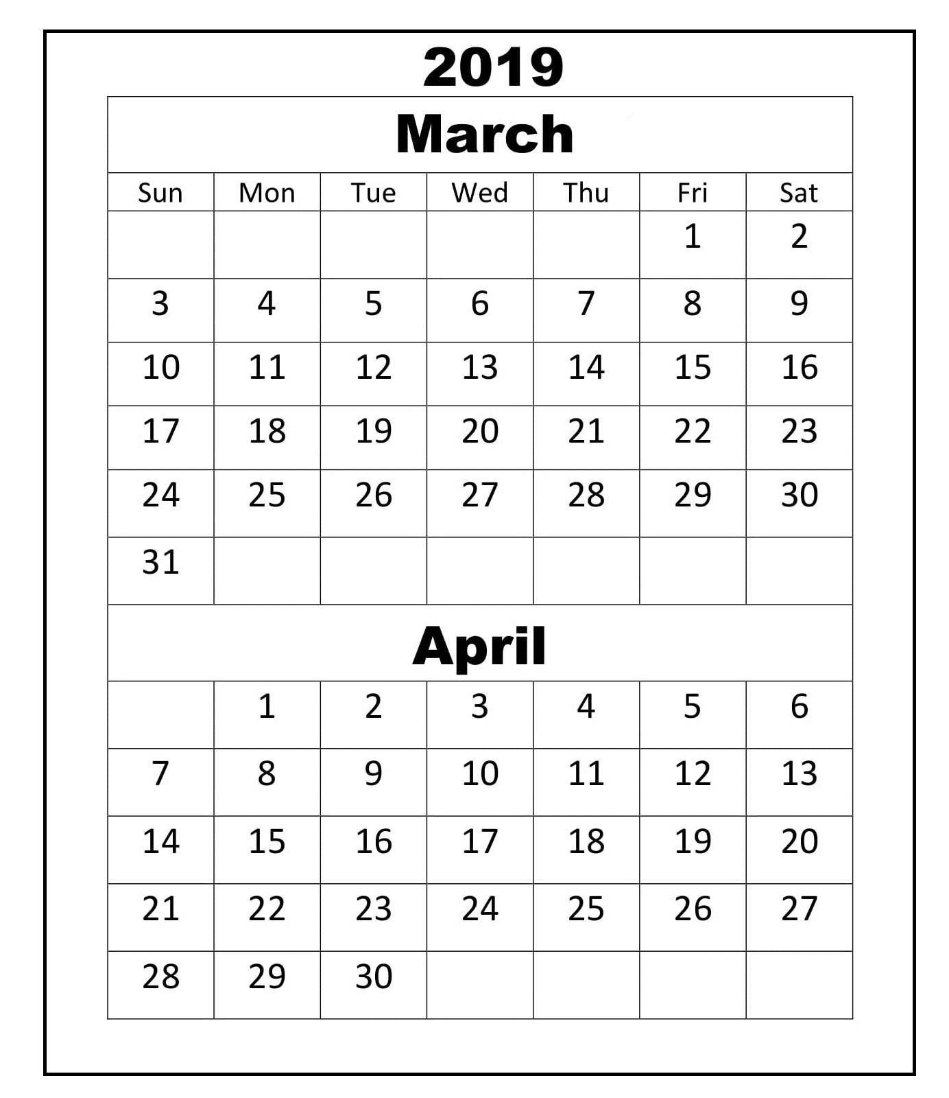 March Calendar 2019 Actual March April 2019 Calendar Printable Printables Calendars 2019 and Of March Calendar 2019 Más Populares February March Calendar 2019 2018 Printable Calendar Store