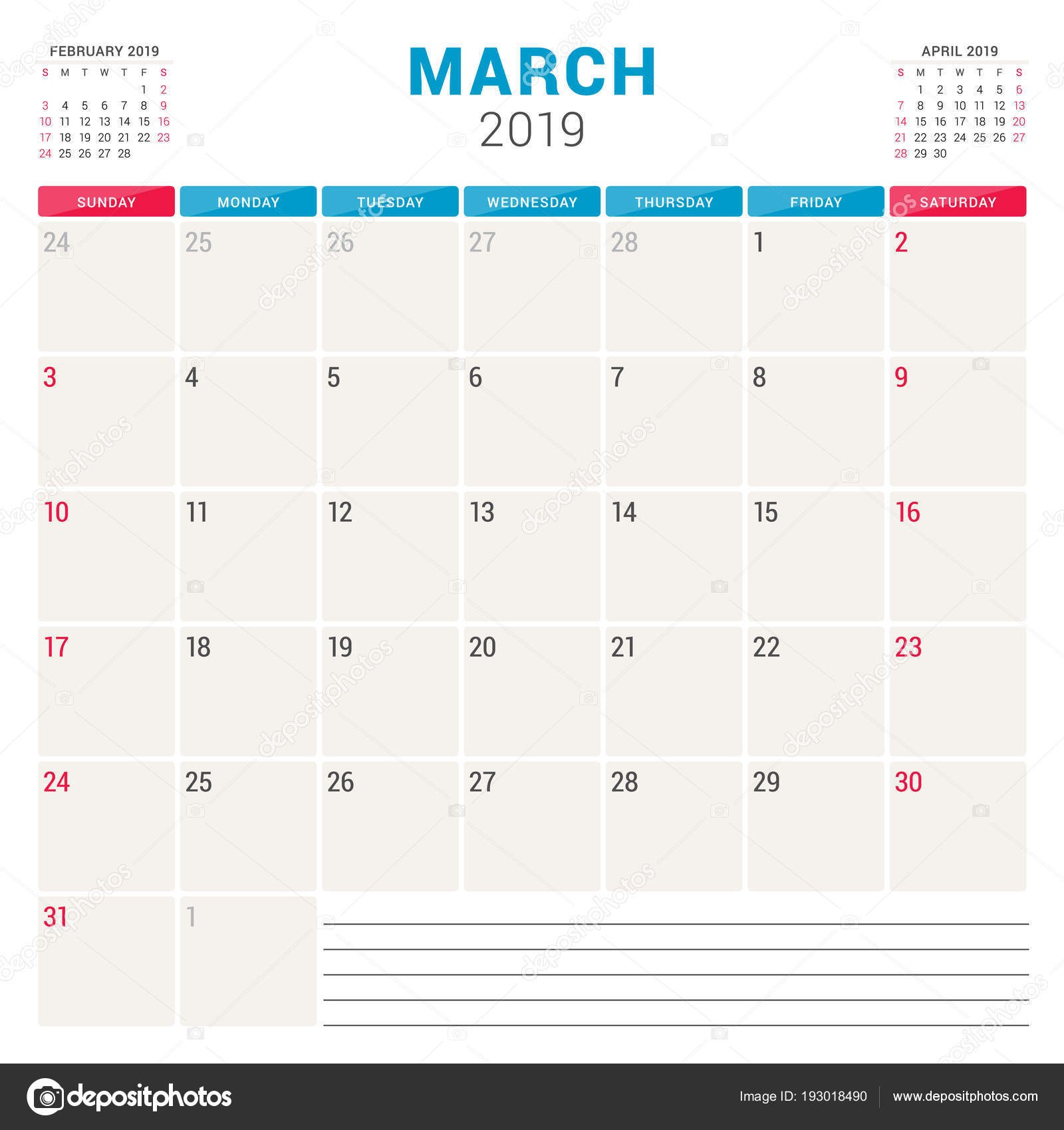 March Calendar 2019 Más Caliente Calendar Planner for March 2019 Week Starts On Sunday Printable Of March Calendar 2019 Más Recientes March 2019 Wall Calendar Colorful Sketch Horizontal Template Letter