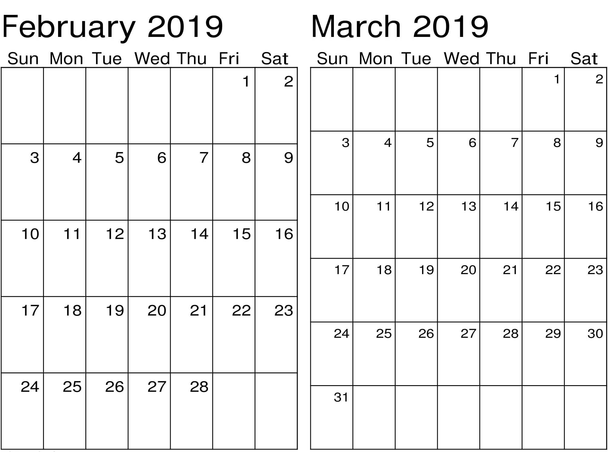 March Calendar 2019 Más Populares February March Calendar 2019 2018 Printable Calendar Store Of March Calendar 2019 Más Populares March 2019 Calendar Pdf Word Excel
