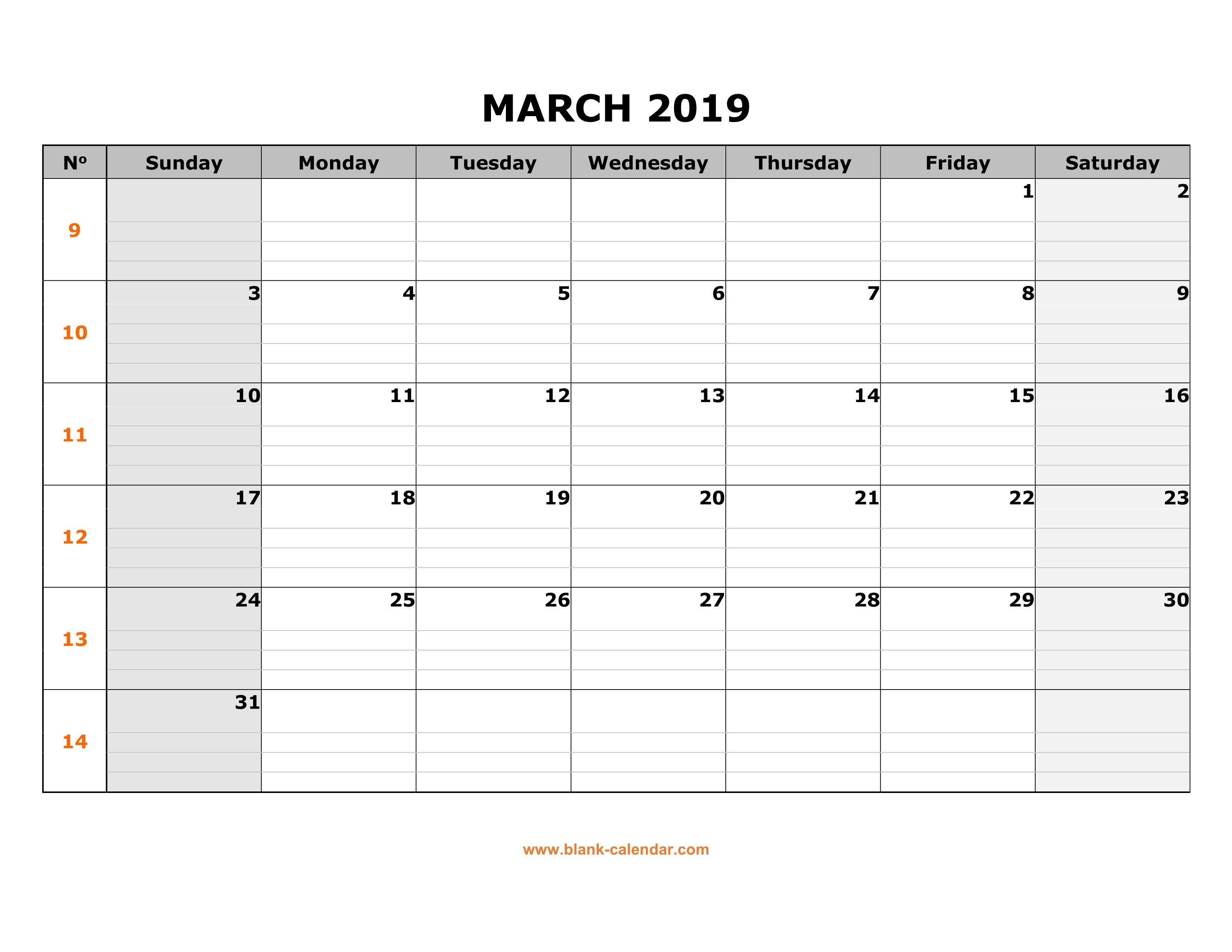 March Calendar 2019 Más Populares Free Download Printable March 2019 Calendar Large Box Grid Space Of March Calendar 2019 Más Populares February March Calendar 2019 2018 Printable Calendar Store