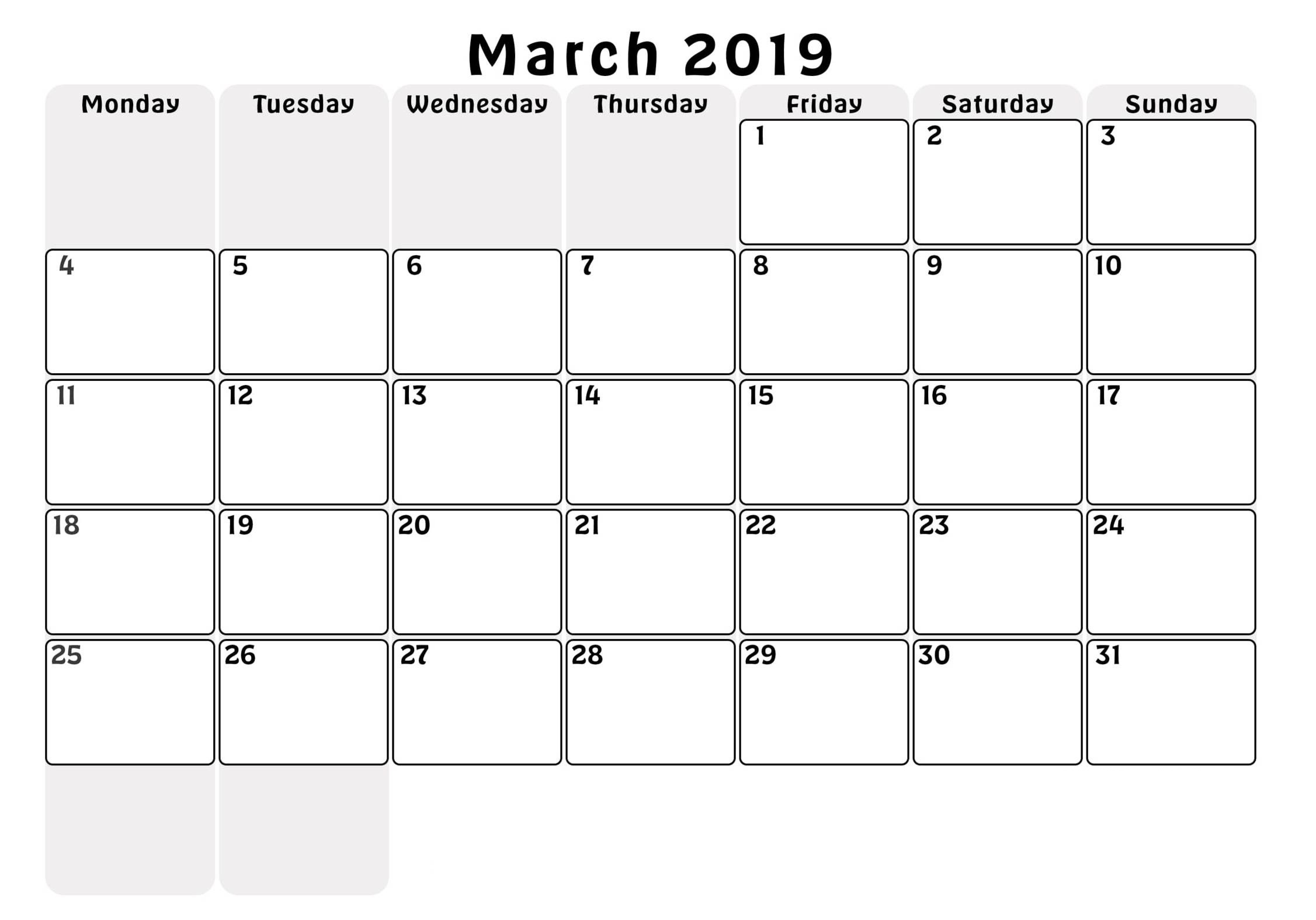 March Calendar 2019 Más Reciente 2019 March Calendar Png 2018 Printable Calendar Store Of March Calendar 2019 Más Populares February March Calendar 2019 2018 Printable Calendar Store