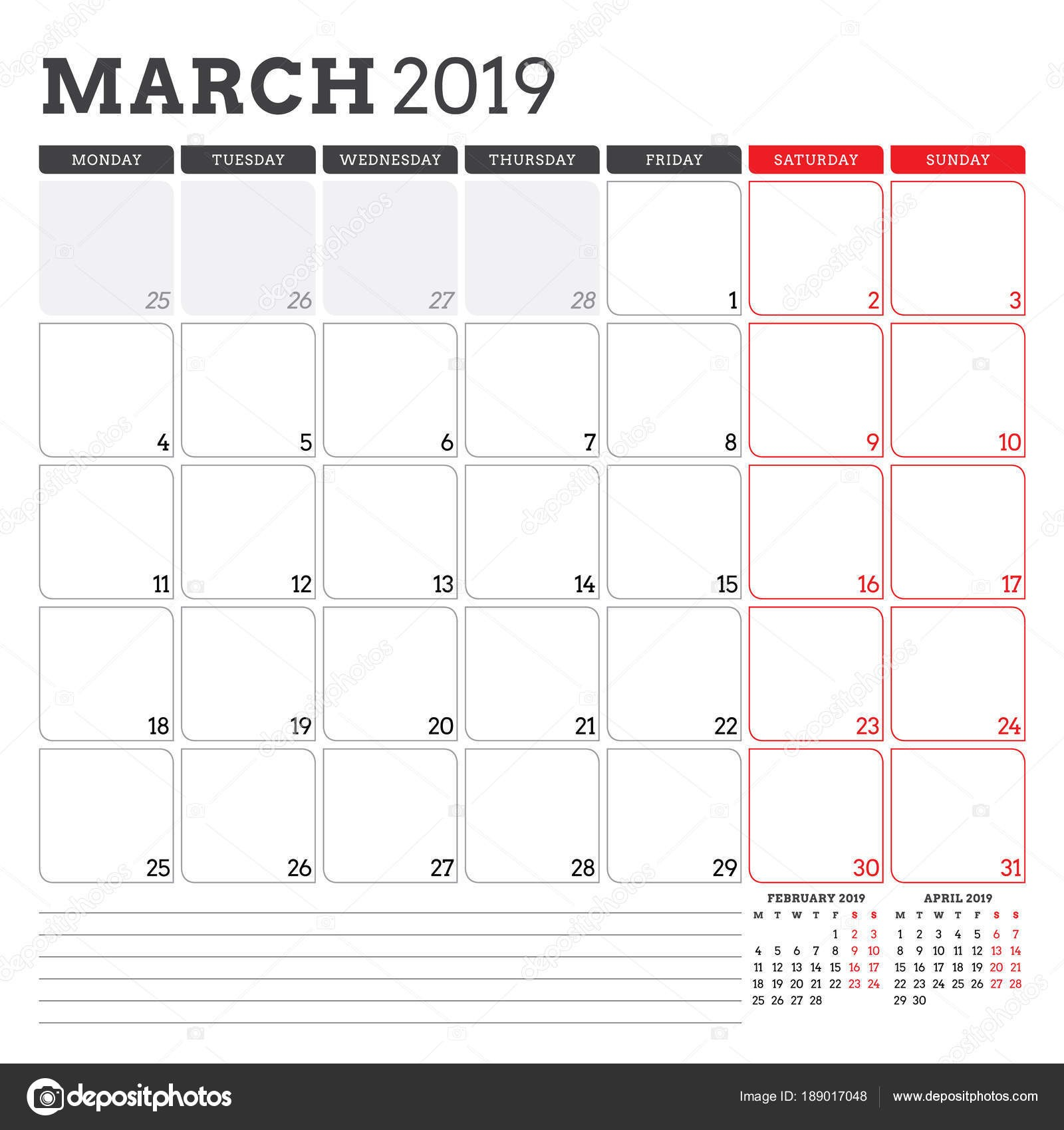 March Calendar 2019 Más Reciente Calendar Planner for March 2019 Week Starts On Monday Printable Of March Calendar 2019 Más Recientes March 2019 Wall Calendar Colorful Sketch Horizontal Template Letter