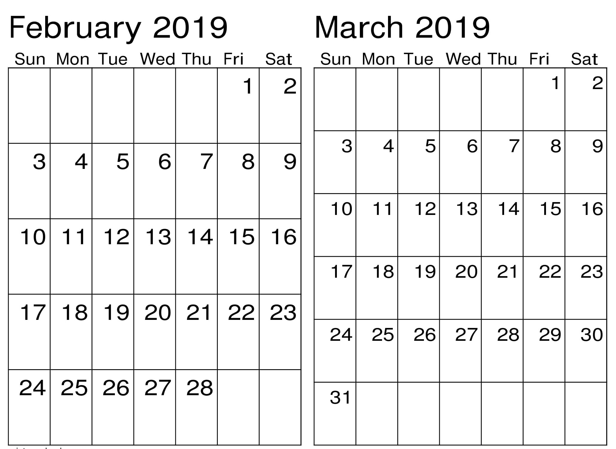 March Calendar 2019 Más Recientemente Liberado February March Calendar 2019 – Free Calendar Templates & Worksheets Of March Calendar 2019 Más Populares February March Calendar 2019 2018 Printable Calendar Store